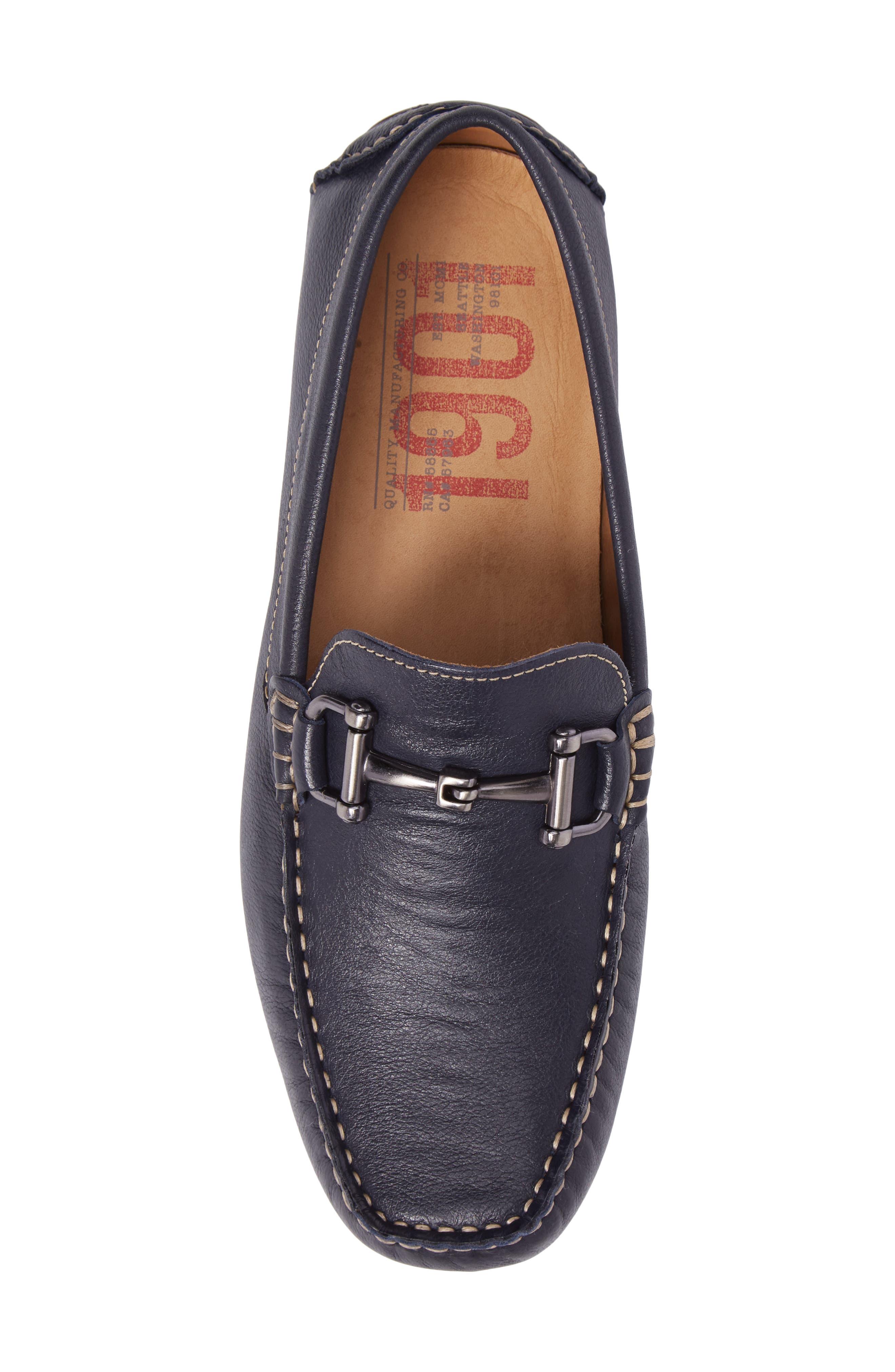 Topanga Driving Shoe,                             Alternate thumbnail 5, color,                             Navy Leather