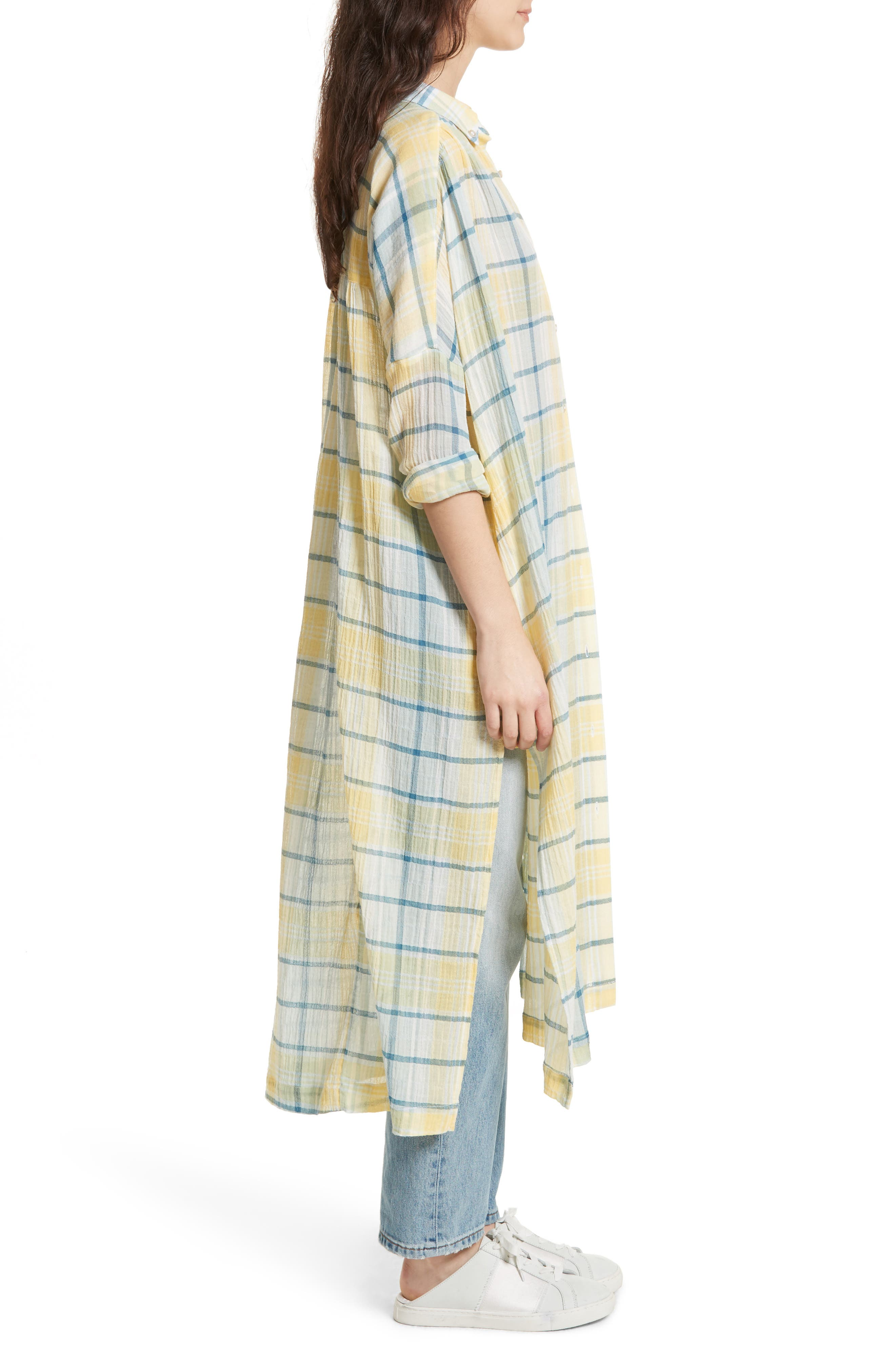 Alternate Image 3  - Free People By My Side Button-Down Duster