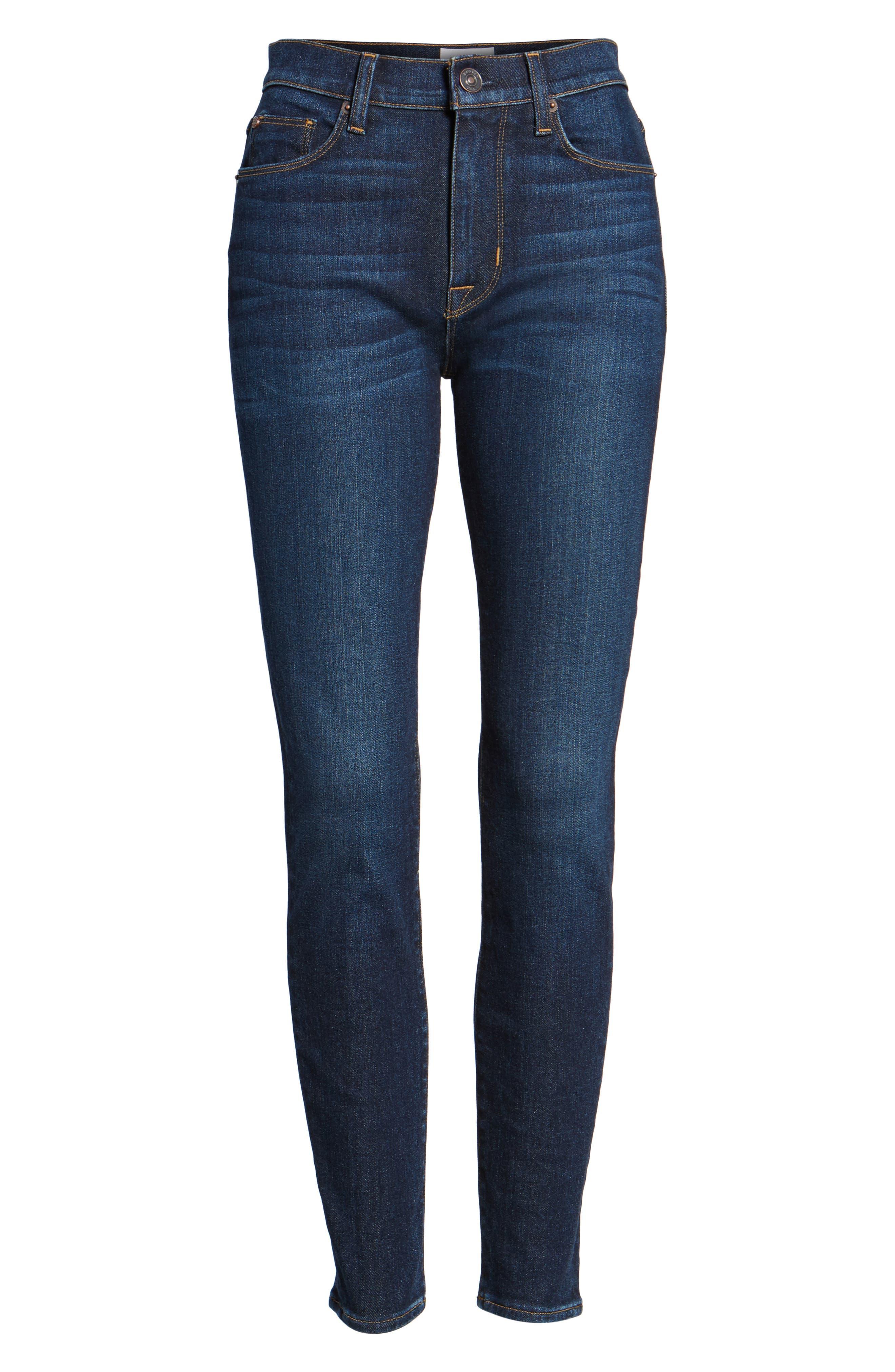 Barbara High Waist Ankle Super Skinny Jeans,                             Alternate thumbnail 6, color,                             Daze