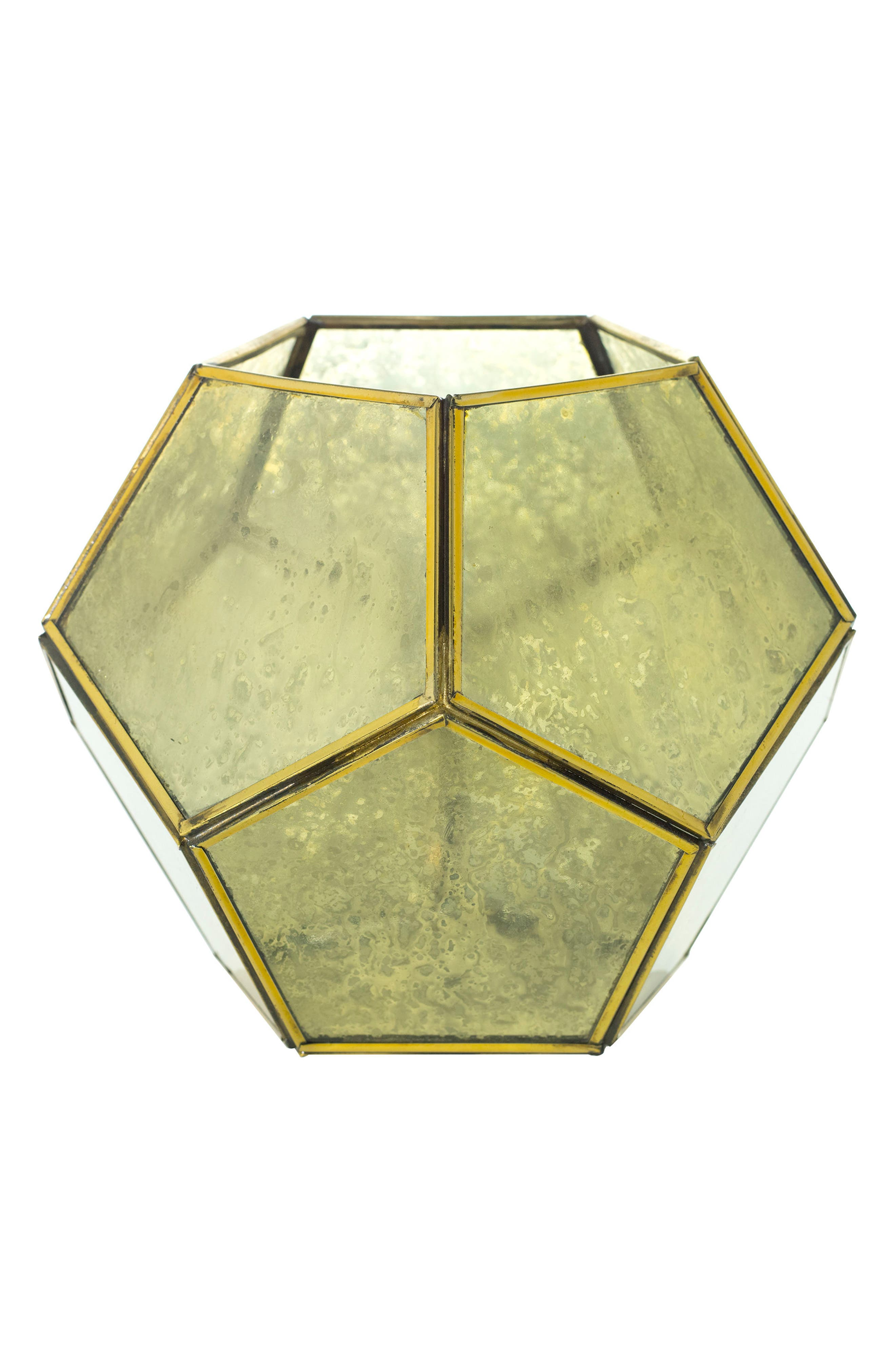 Geometric Lantern,                         Main,                         color, Gold
