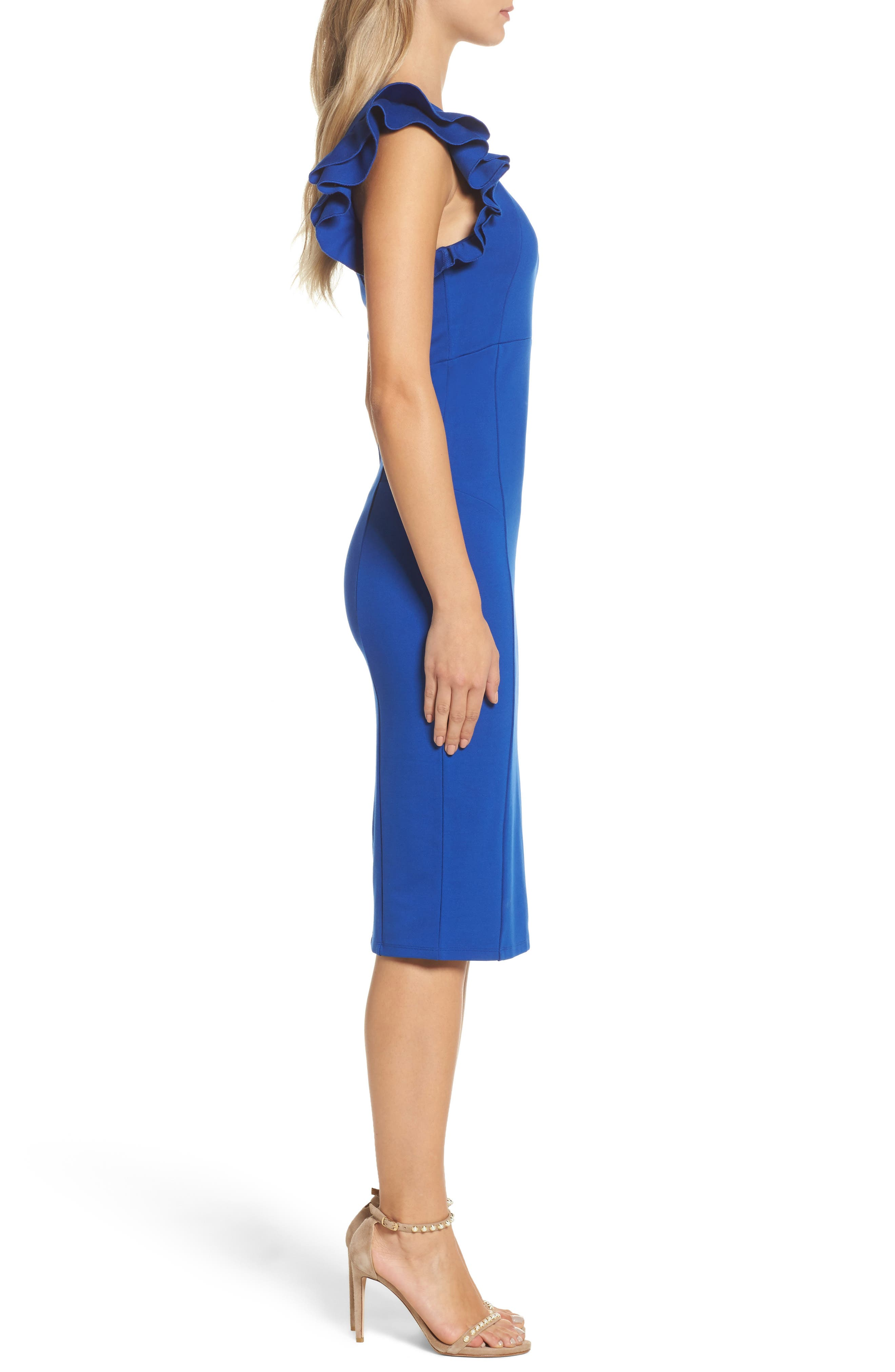 Alternate Image 3  - Felicity & Coco Marilyn One-Shoulder Sheath Dress (Nordstrom Exclusive)