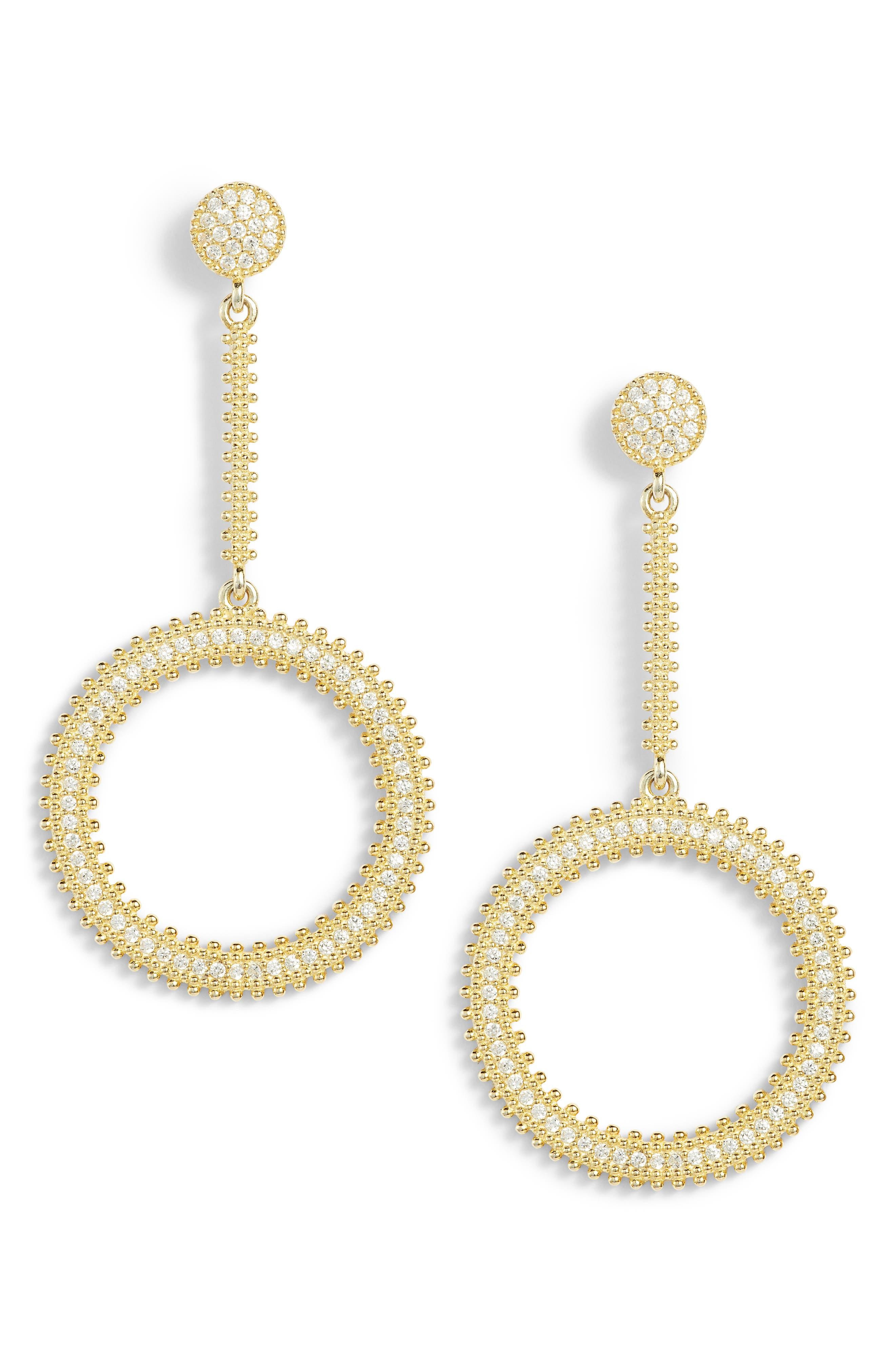 Array Drop Earrings,                         Main,                         color, Gold