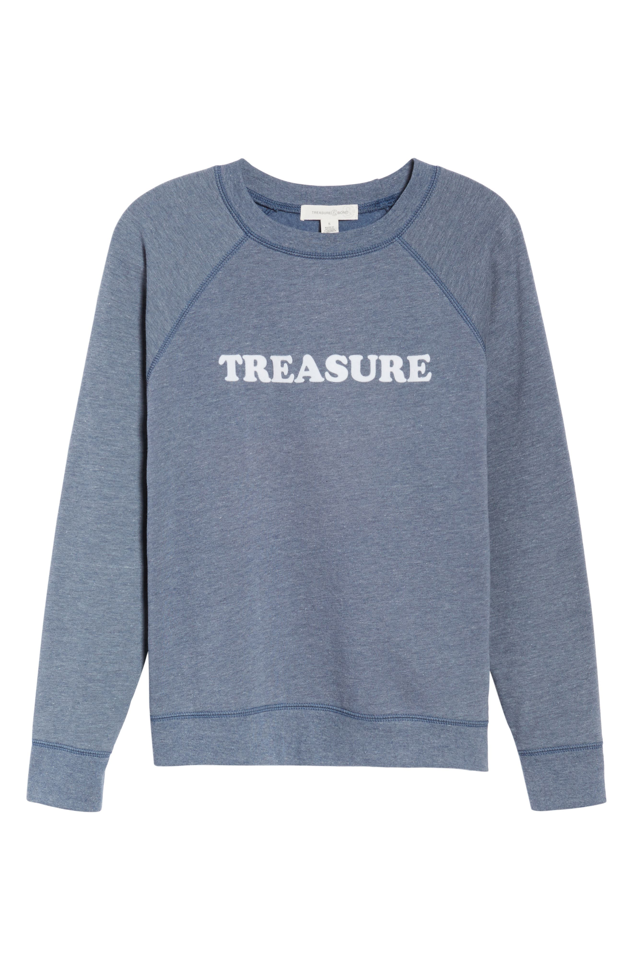 Crewneck Sweatshirt,                             Alternate thumbnail 6, color,                             Blue Insignia Treasure