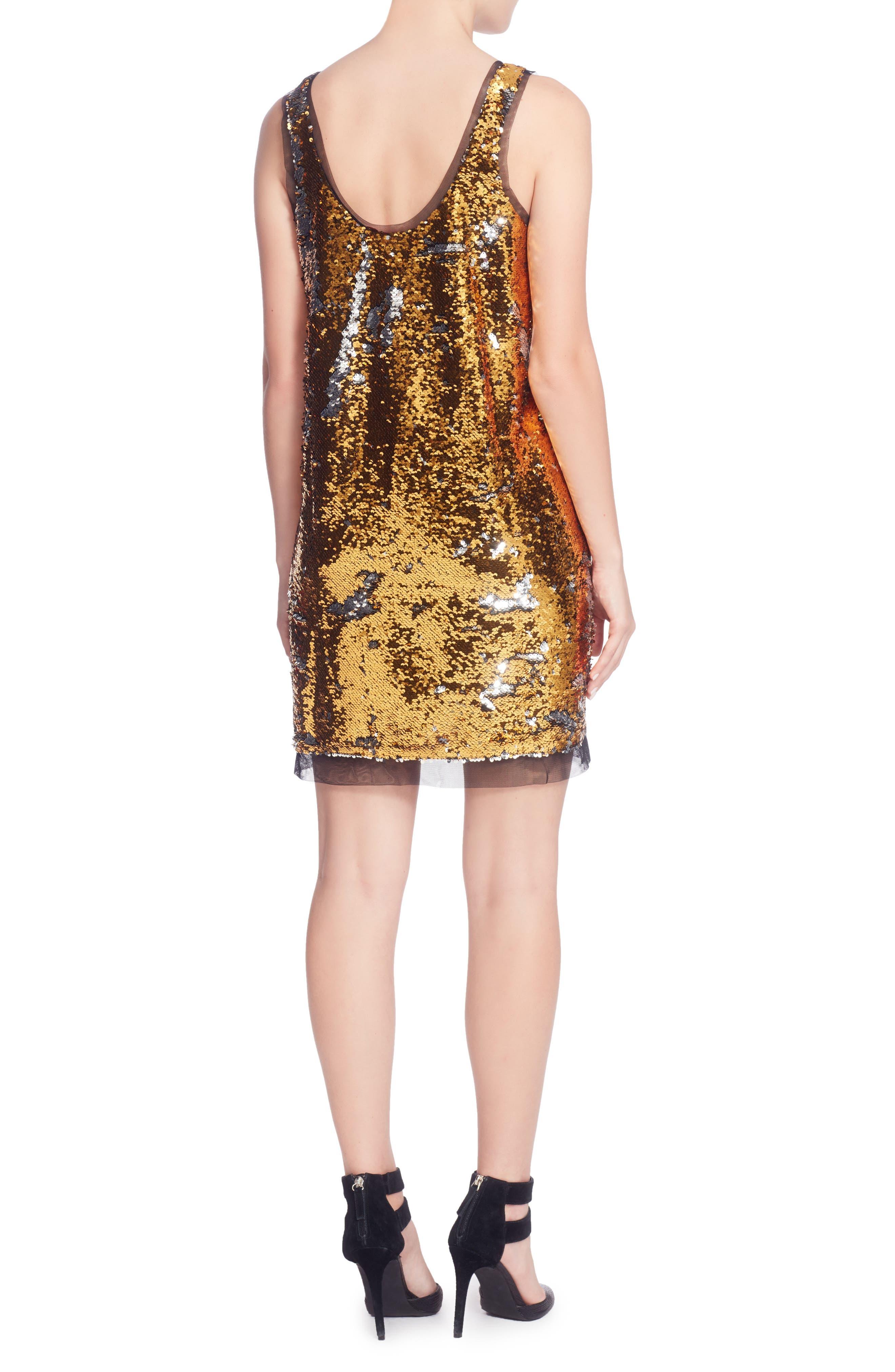 Louisa Dress,                             Alternate thumbnail 2, color,                             Gold
