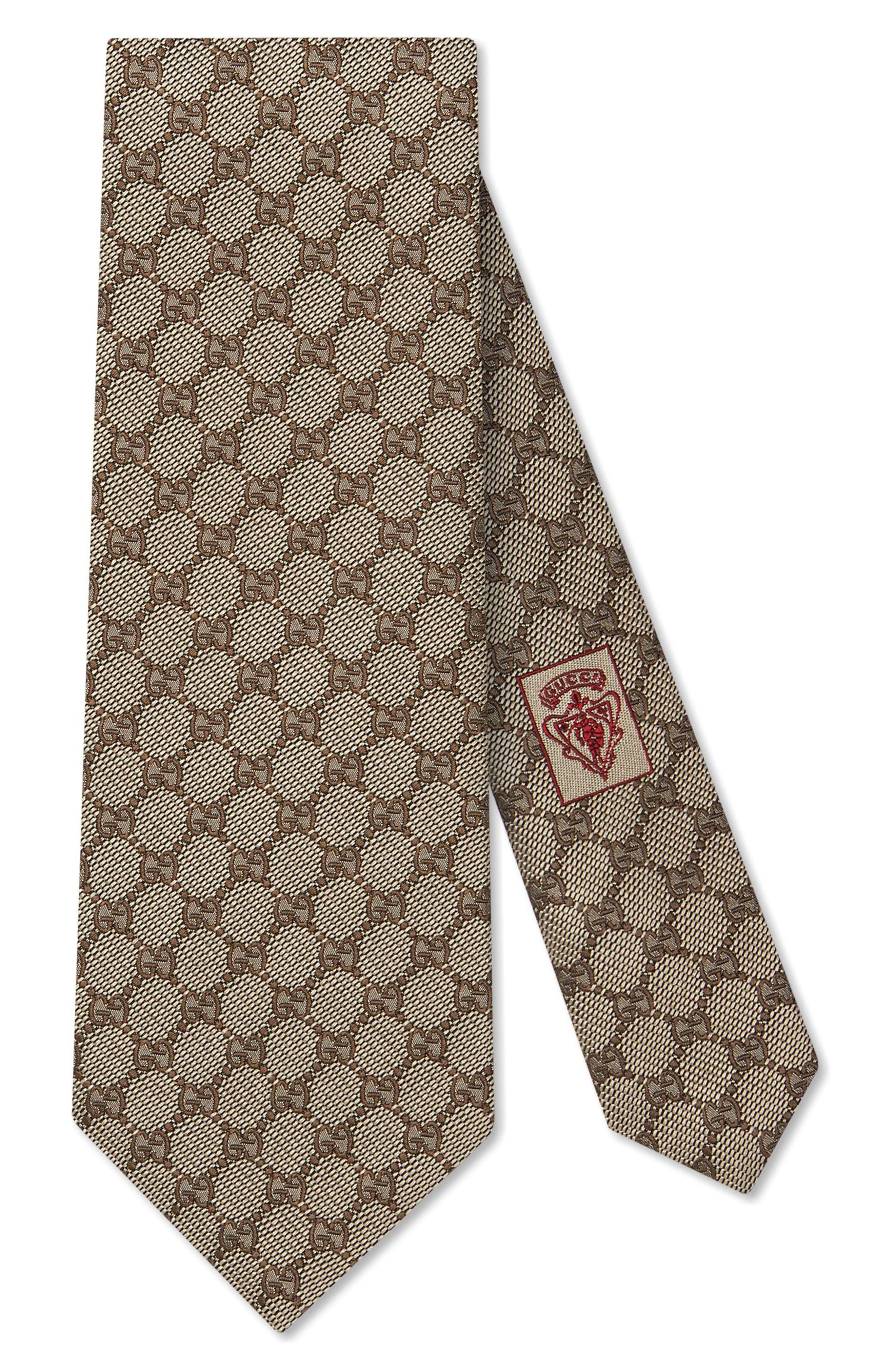 Arend Print Silk Tie,                         Main,                         color, 9700 Beige