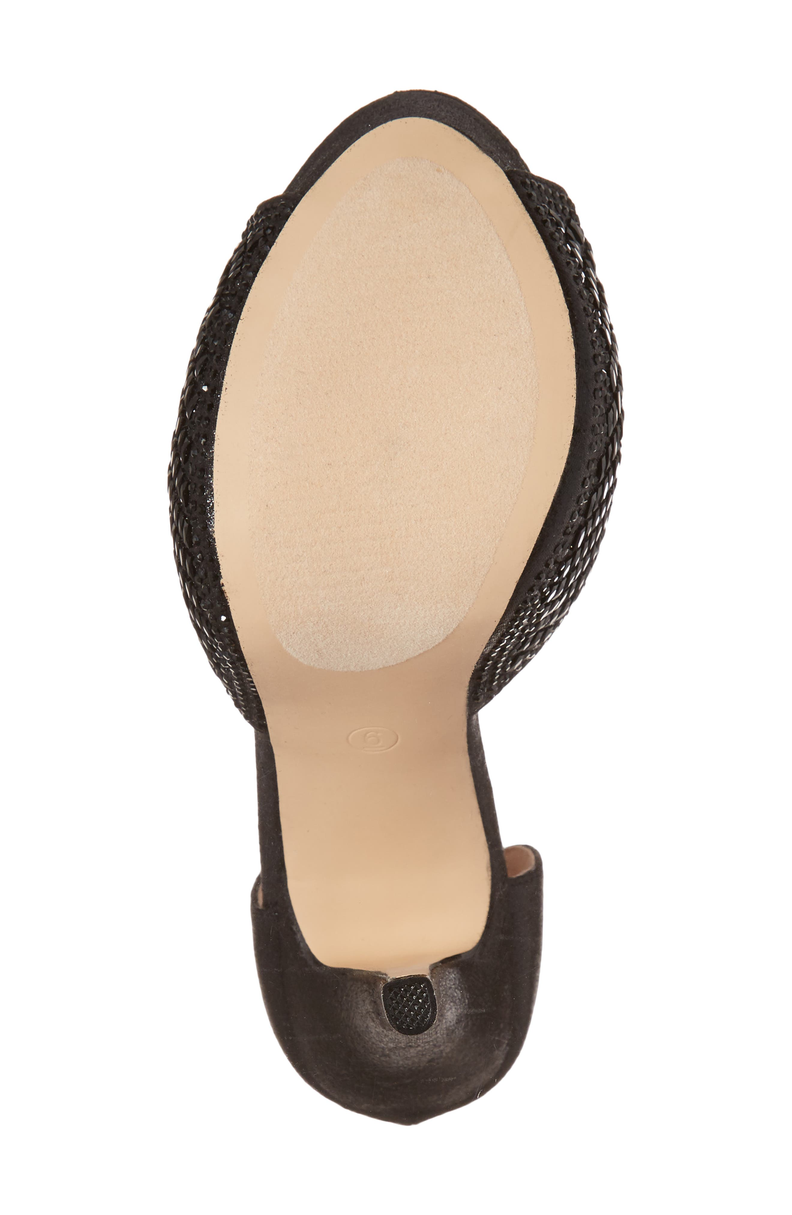 Vivian 4 Crystal Embellished Sandal,                             Alternate thumbnail 6, color,                             Black Shimmer