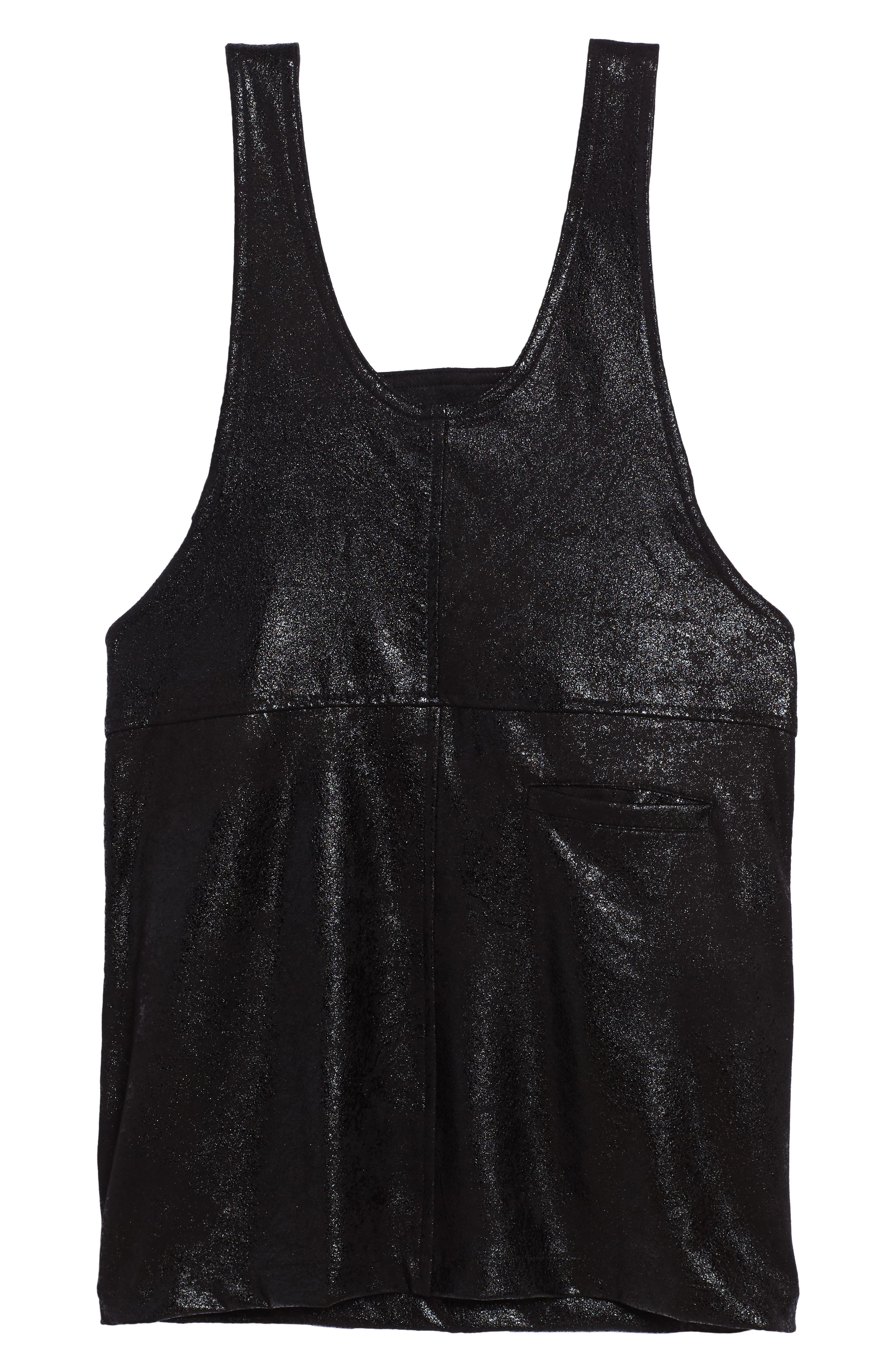 Alternate Image 2  - BLANKNYC Overall Dress (Big Girls)