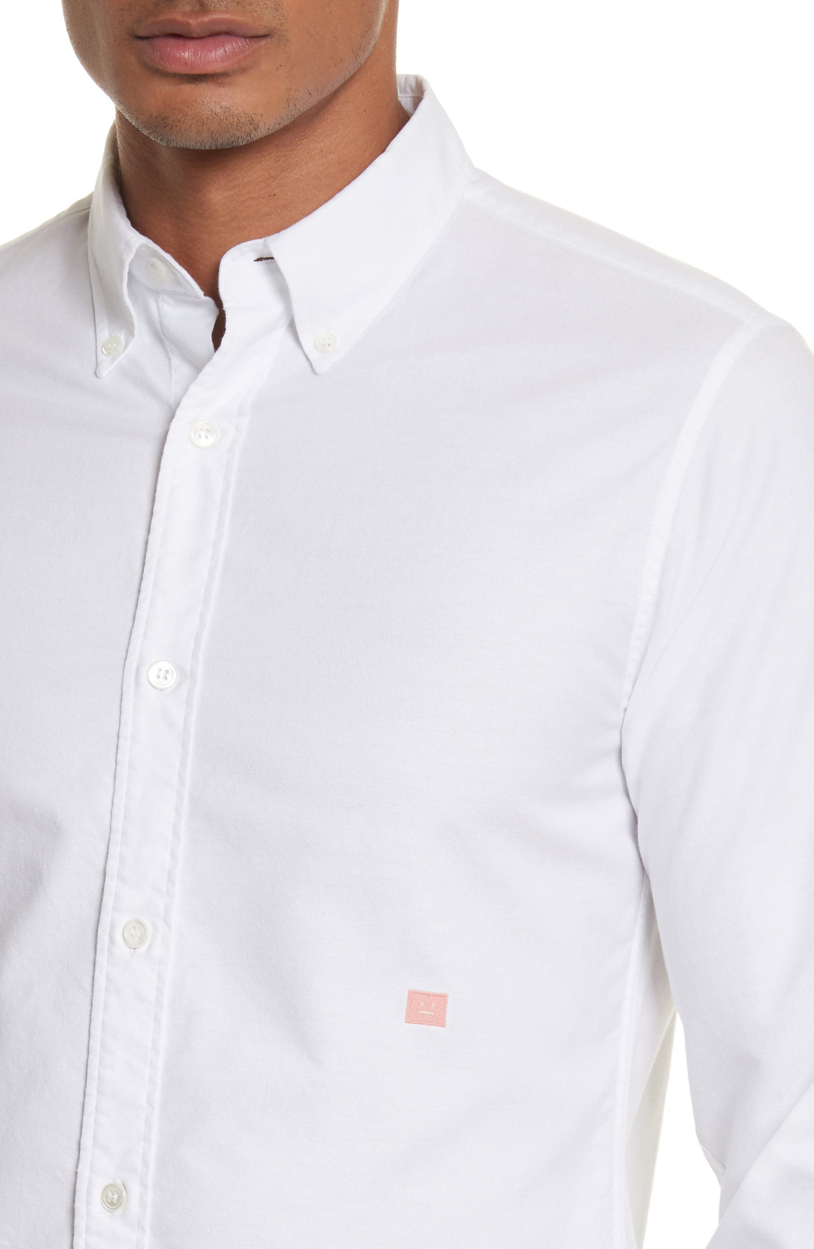 Alternate Image 4  - ACNE Studios Ohio Face Patch Oxford Shirt