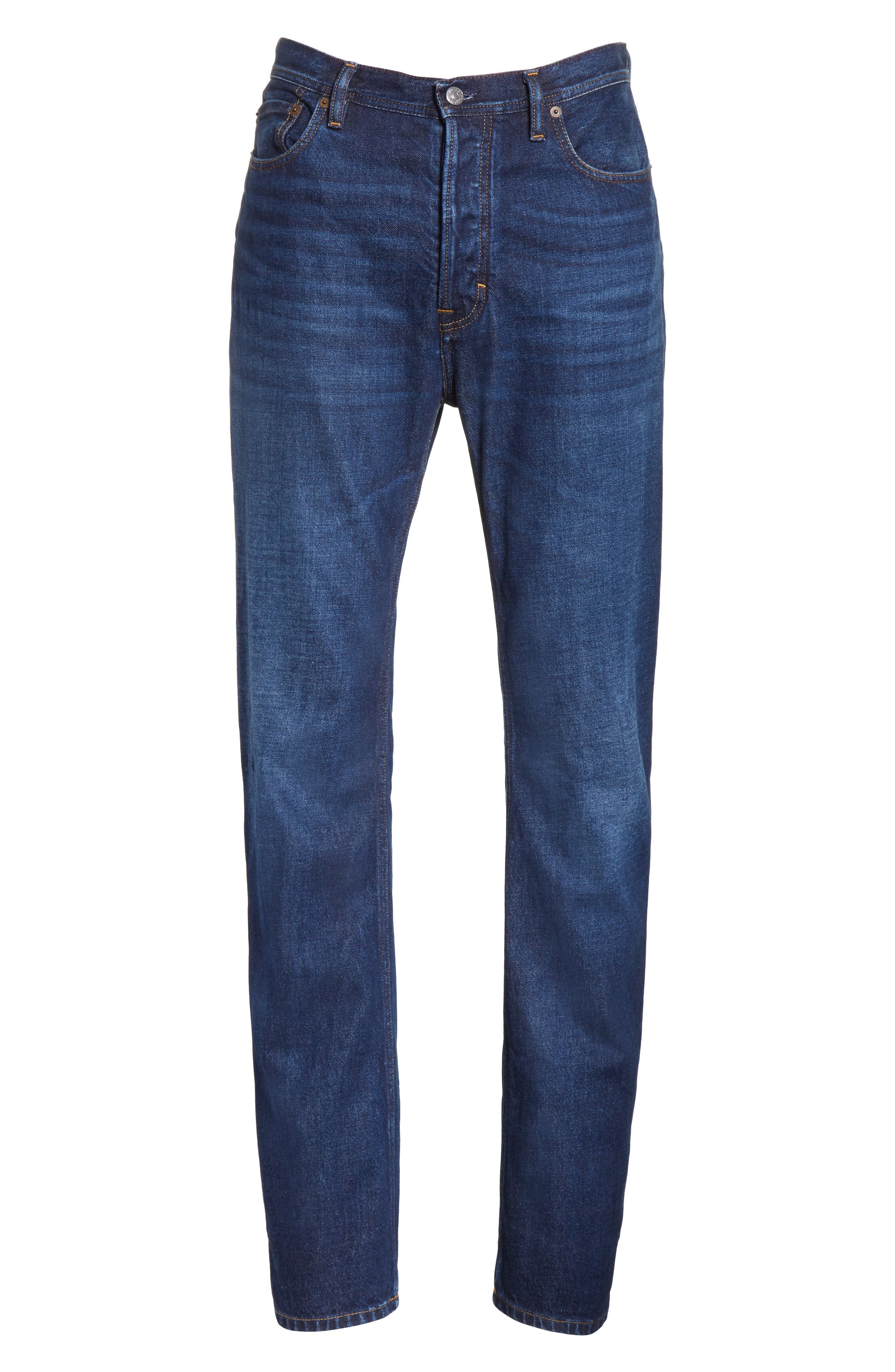 Land Classic Straight Leg Jeans,                             Alternate thumbnail 6, color,                             123 Dk Blue