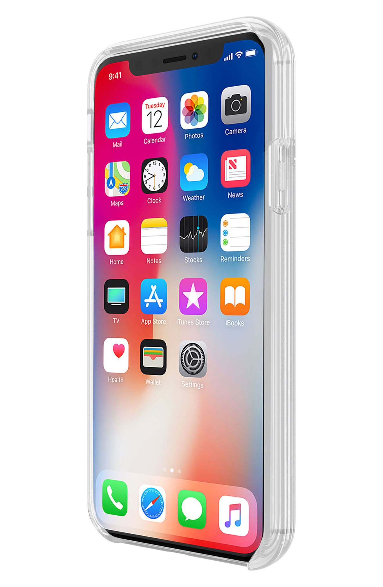 Glitterfall iPhone 8 Plus Case,                             Alternate thumbnail 6, color,                             Mini Pearls/ Heart Confetti