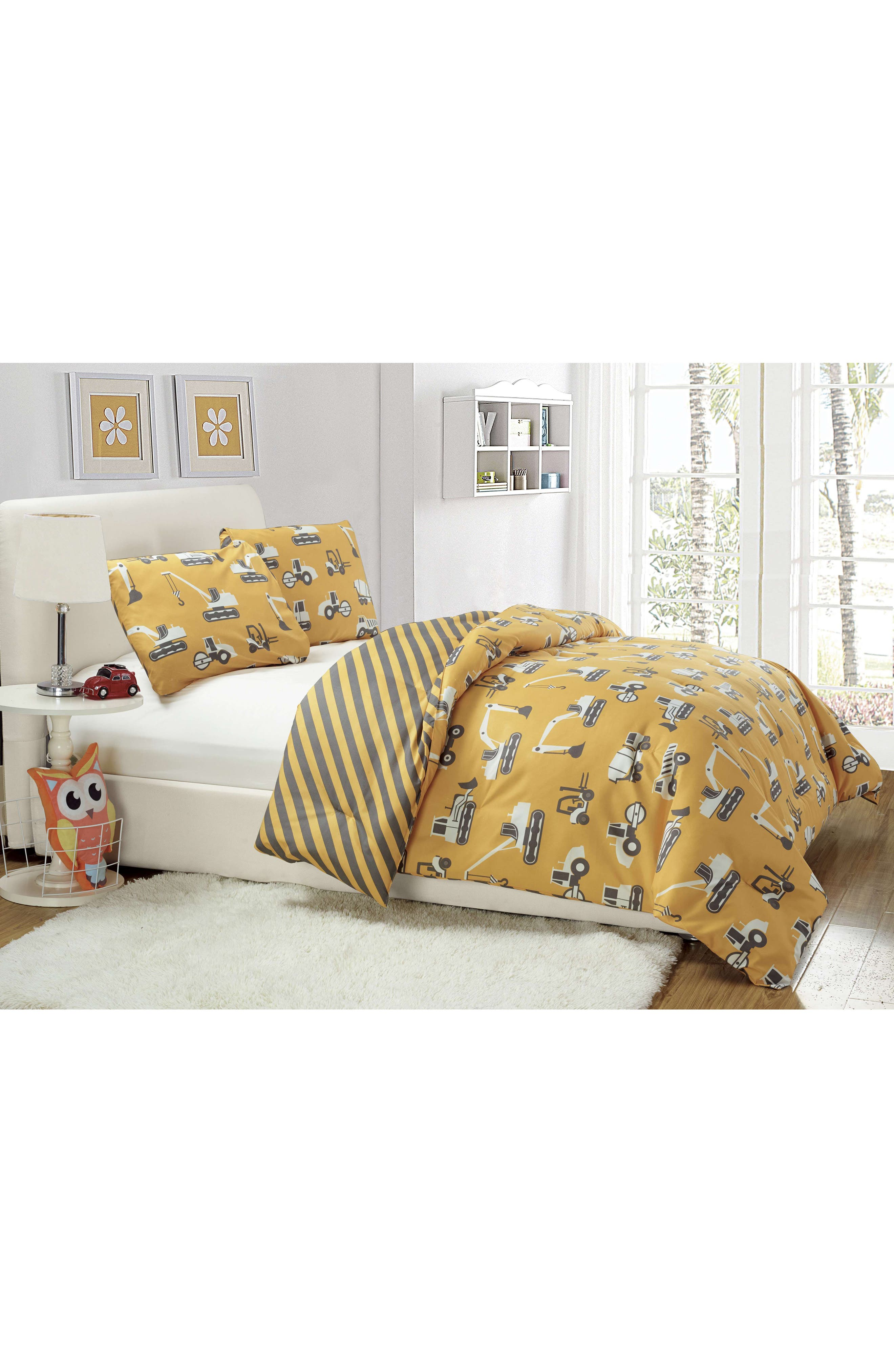 Tommy Comforter & Sham Set,                             Alternate thumbnail 4, color,                             Yellow