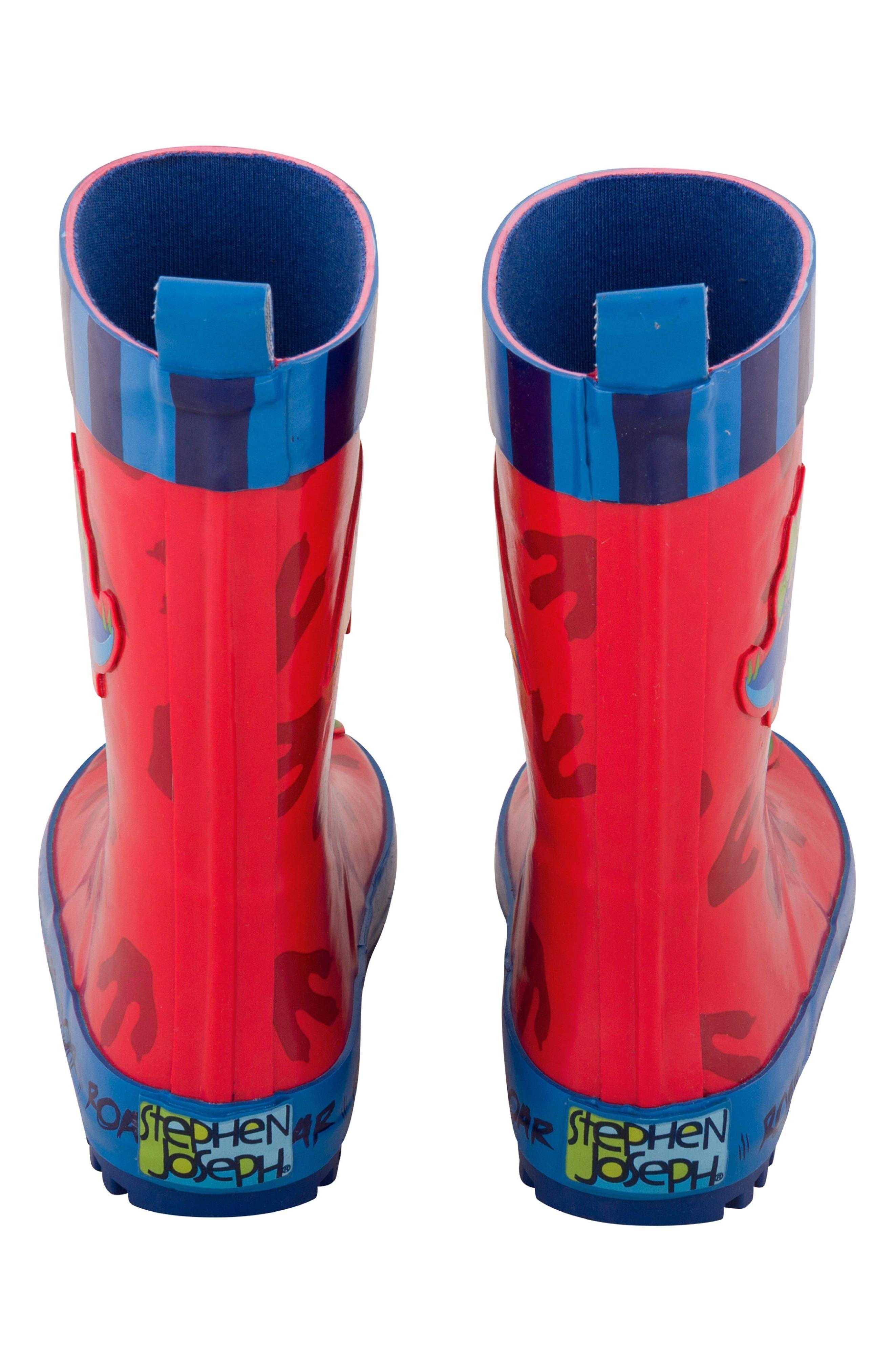 Dinosaur Truck Rain Boots & Umbrella Set,                             Alternate thumbnail 4, color,                             Dino