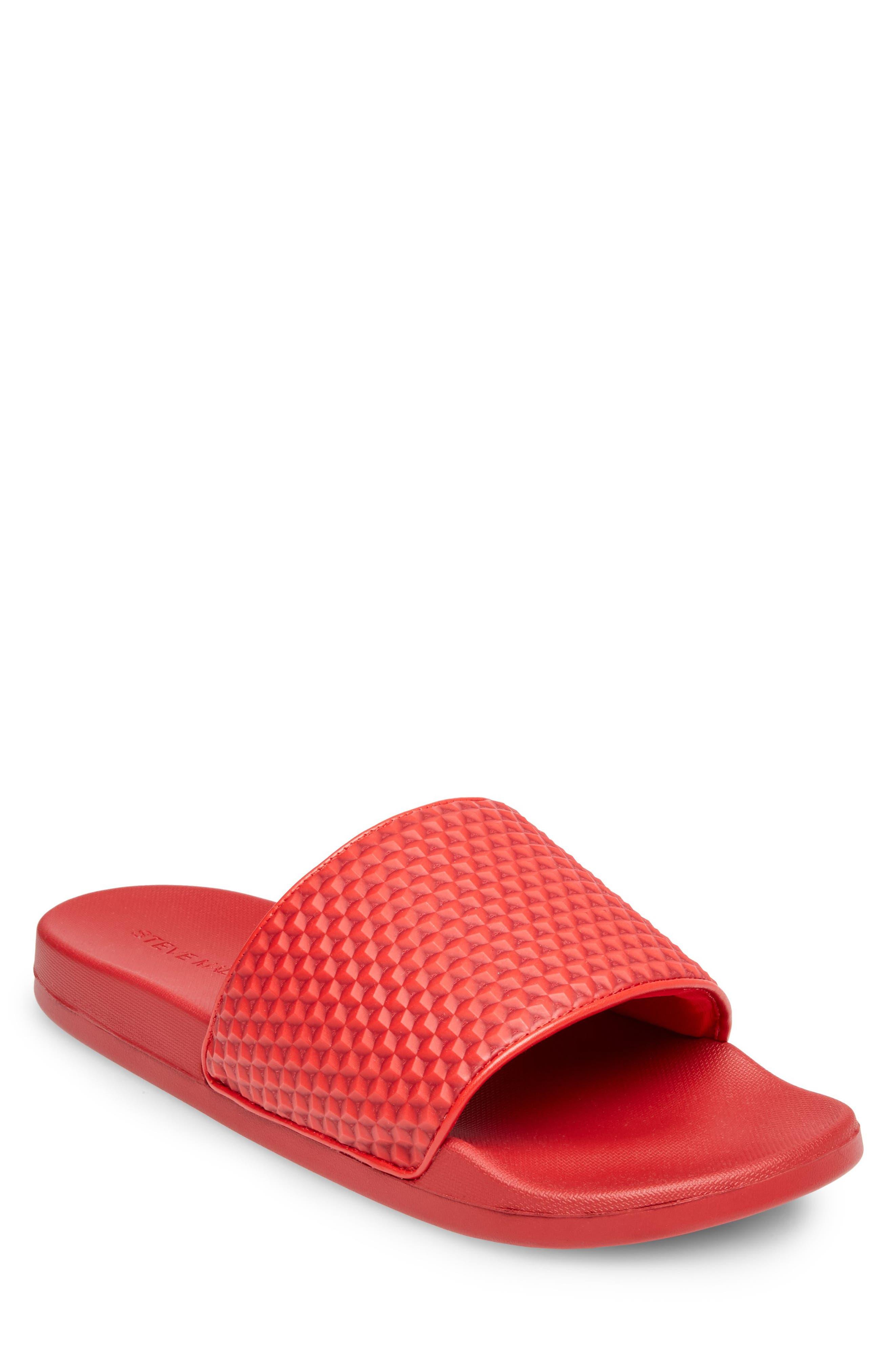 Riptide Slide Sandal,                             Main thumbnail 1, color,                             Red
