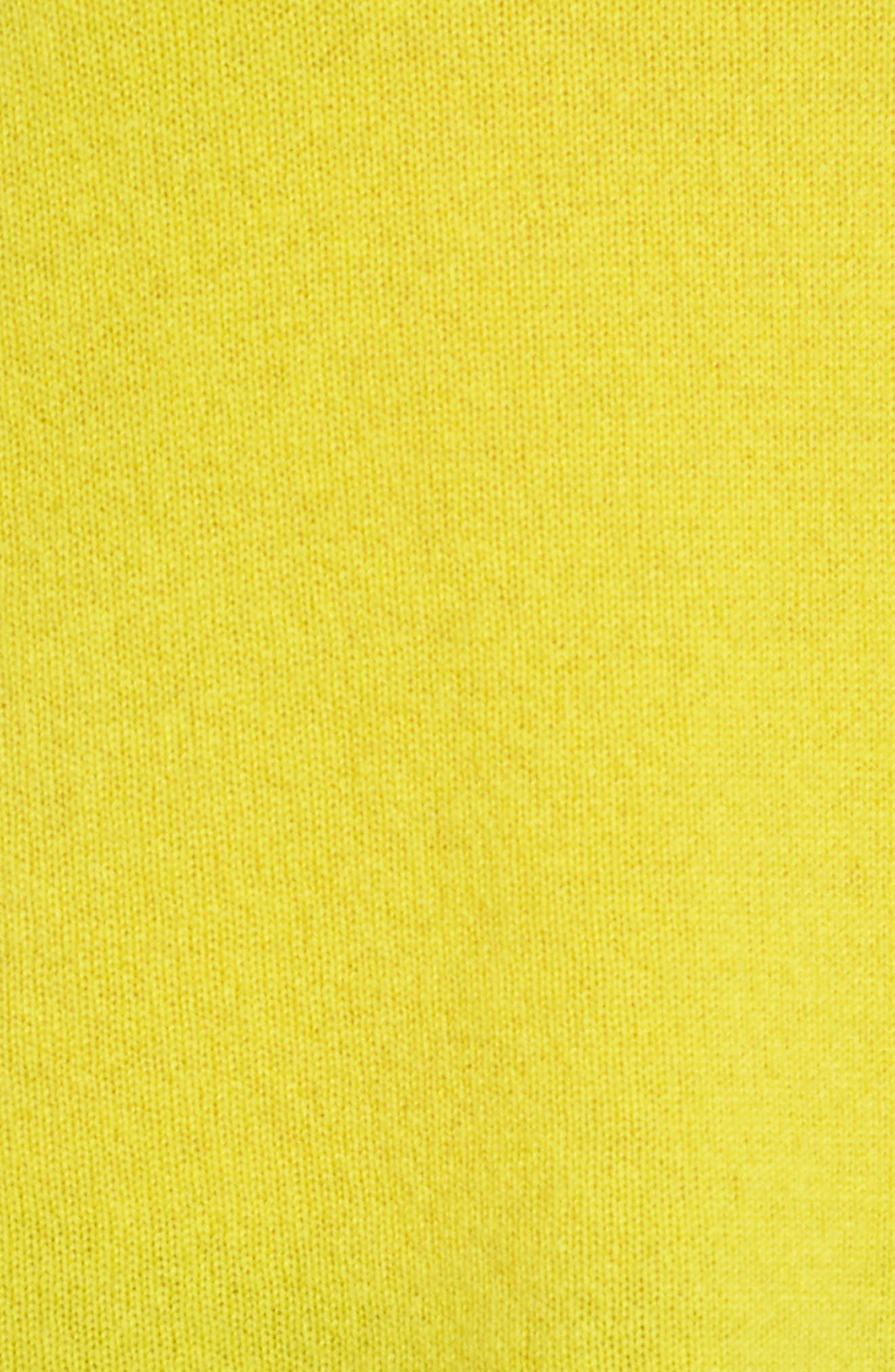 Crewneck Cashmere Sweater,                             Alternate thumbnail 6, color,                             Blazing Buttercup