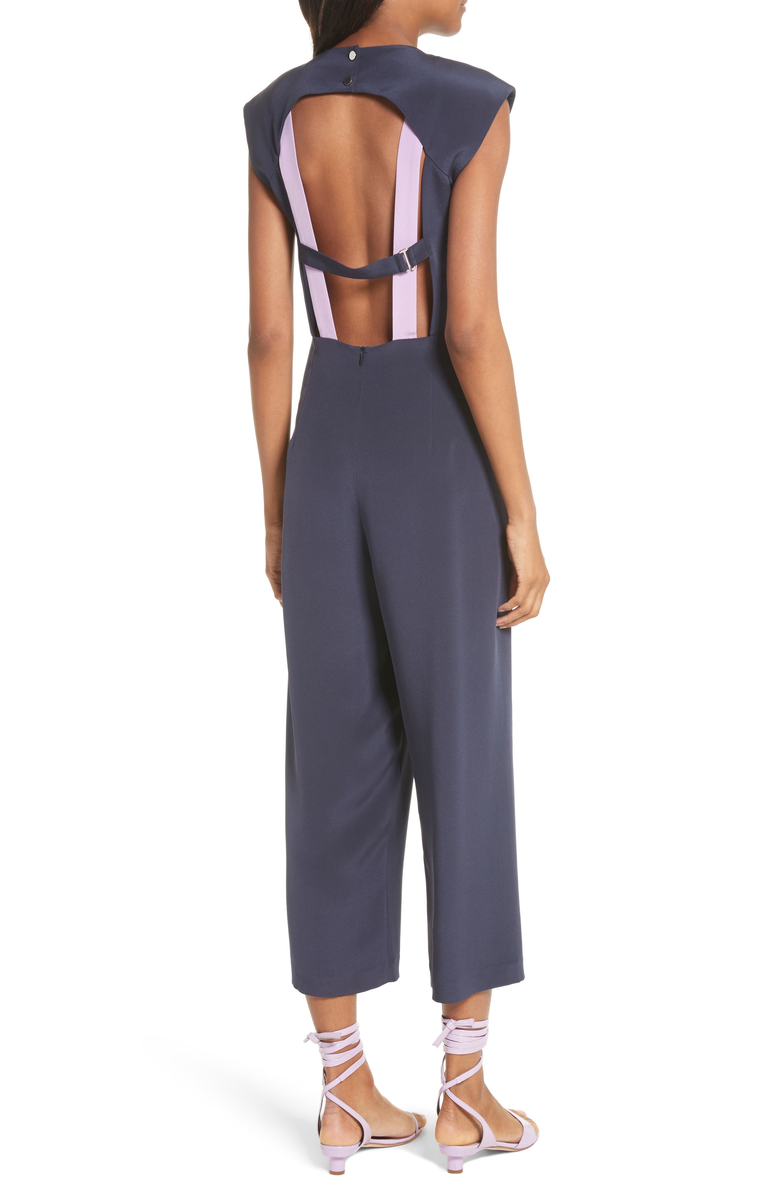 Alternate Image 2  - Tibi Open Back Four-Ply Silk Jumpsuit