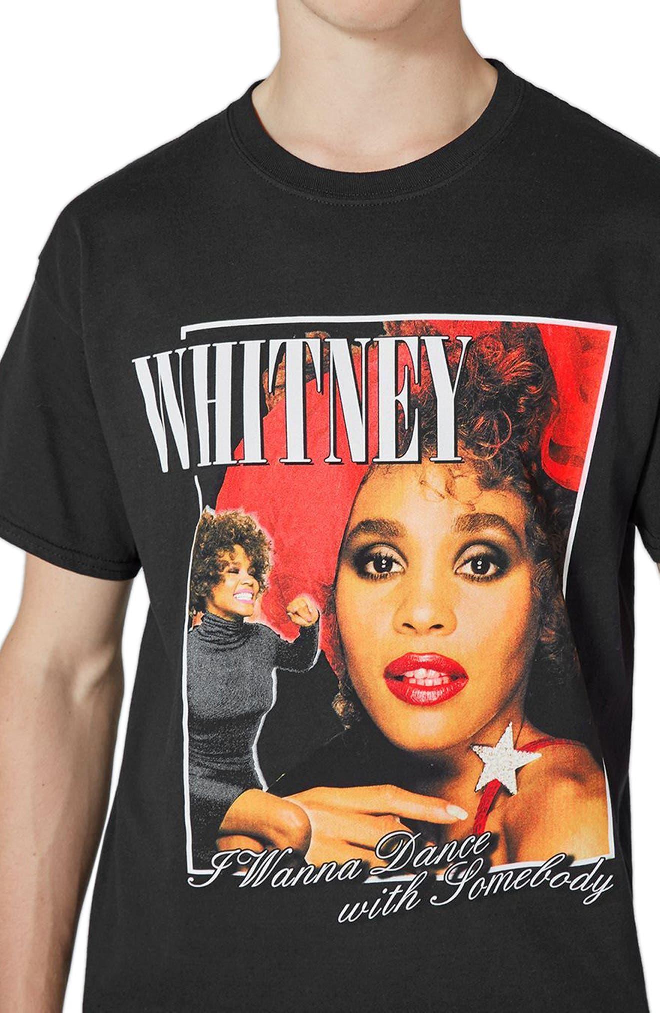 Whitney Houston Graphic T-Shirt,                             Alternate thumbnail 3, color,                             Black Multi