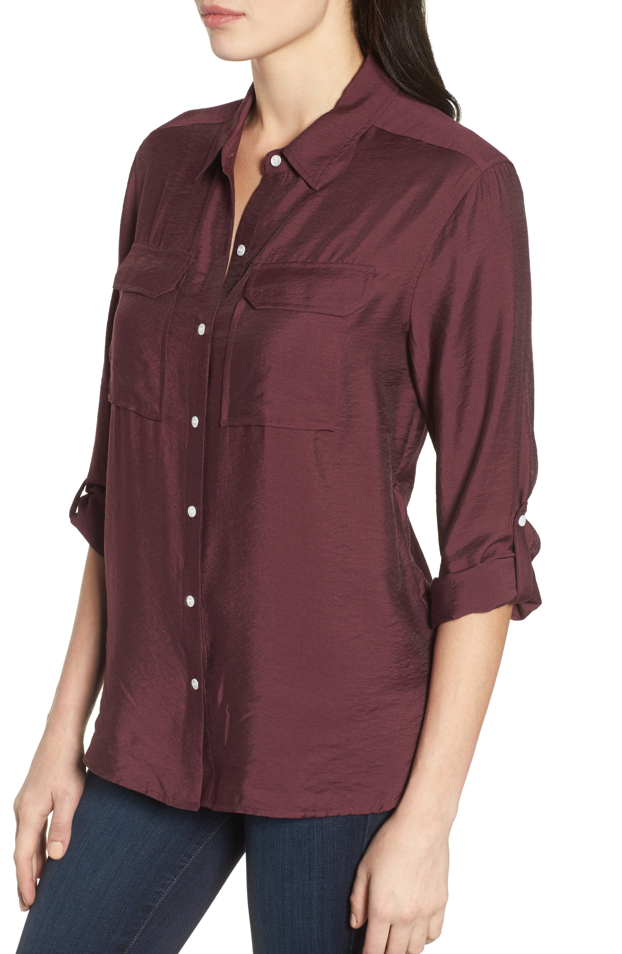 Alternate Image 4  - Two by Vince Camuto Utility Shirt