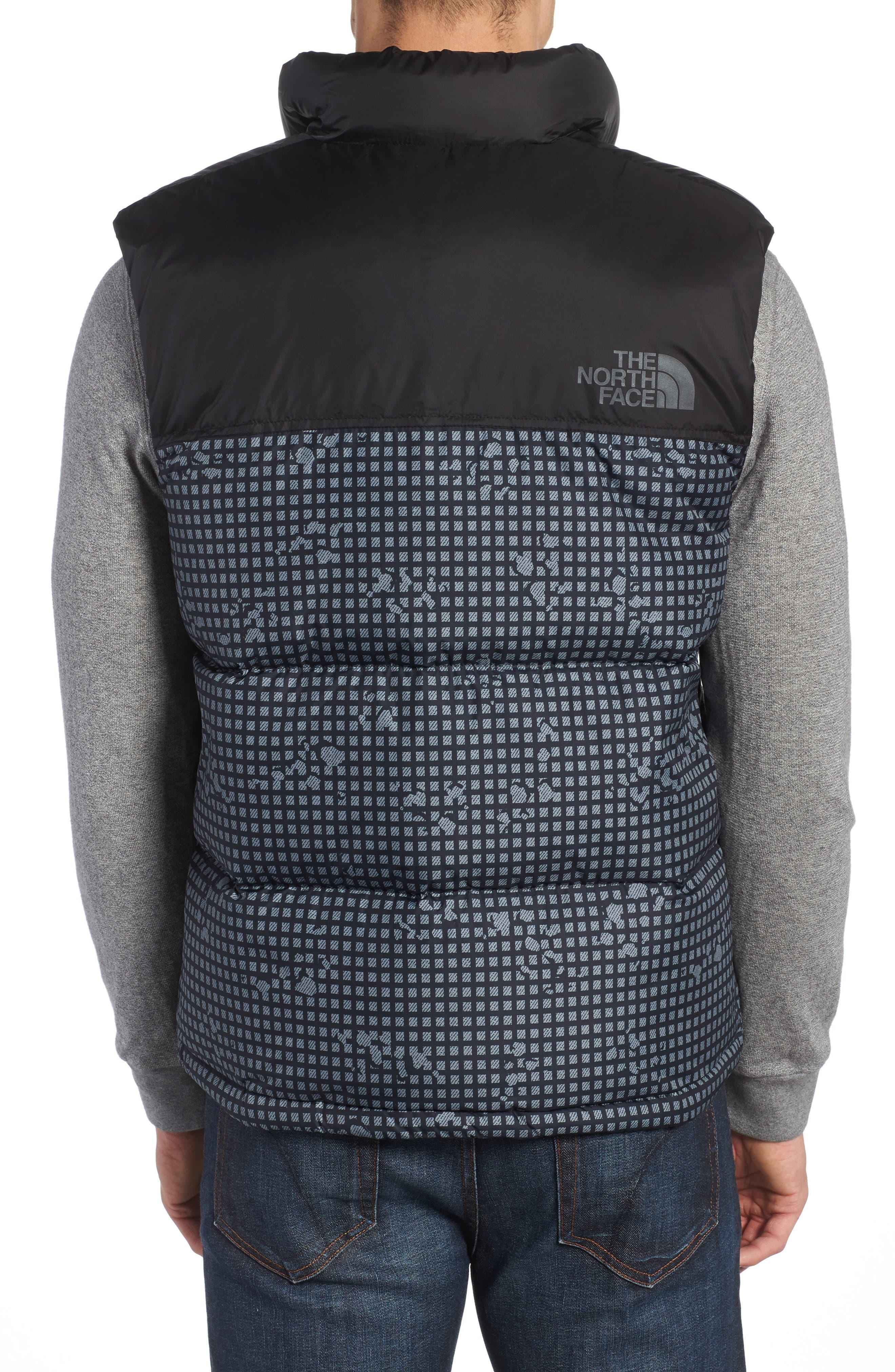 'Nuptse' Quilted Vest,                             Alternate thumbnail 2, color,                             Black Nightmoves / Black