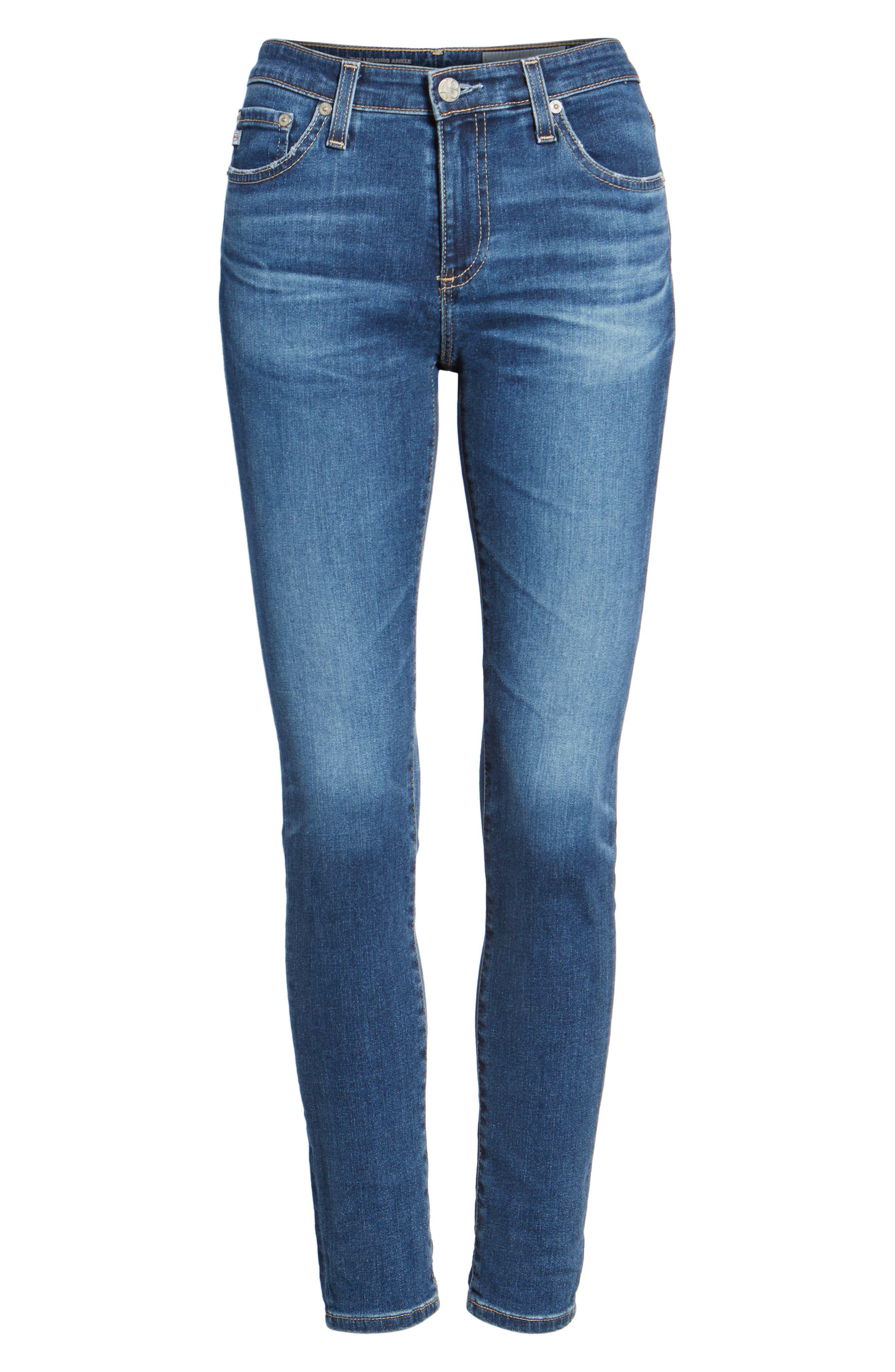 Alternate Image 6  - AG The Legging Ankle Super Skinny Jeans