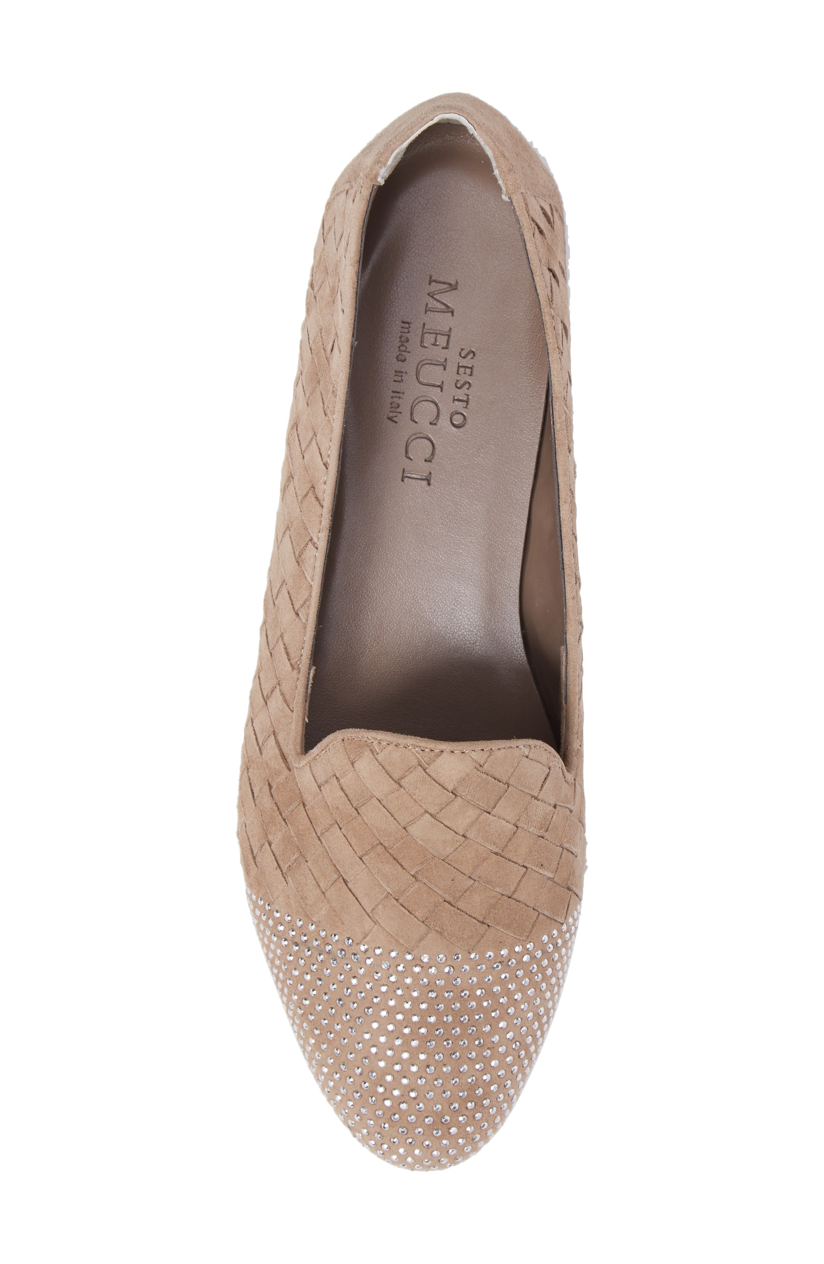 Nicia Flat,                             Alternate thumbnail 5, color,                             Light Taupe Suede