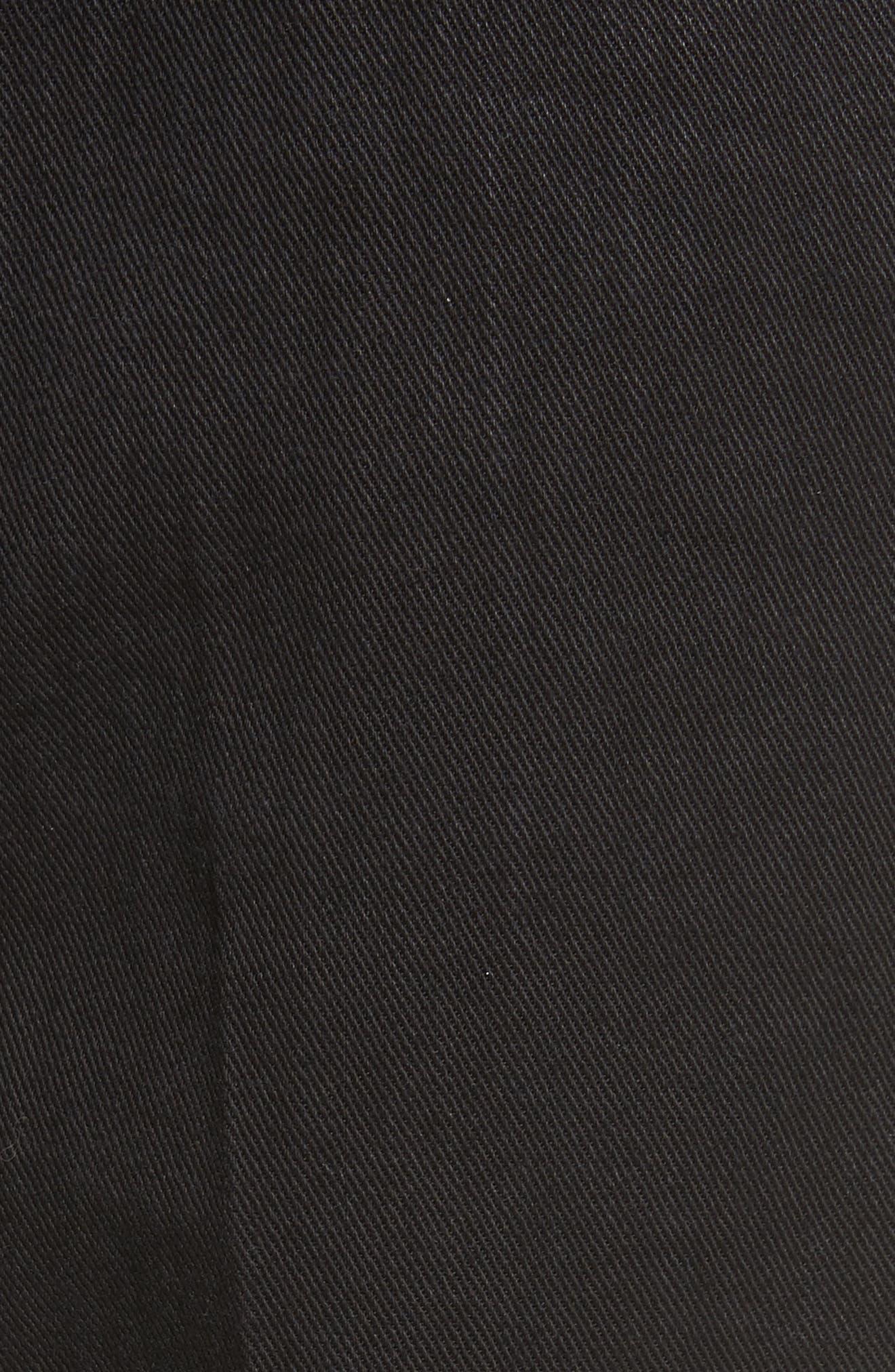 Just Wash Point Hem Wide Leg Jeans,                             Alternate thumbnail 7, color,                             Black