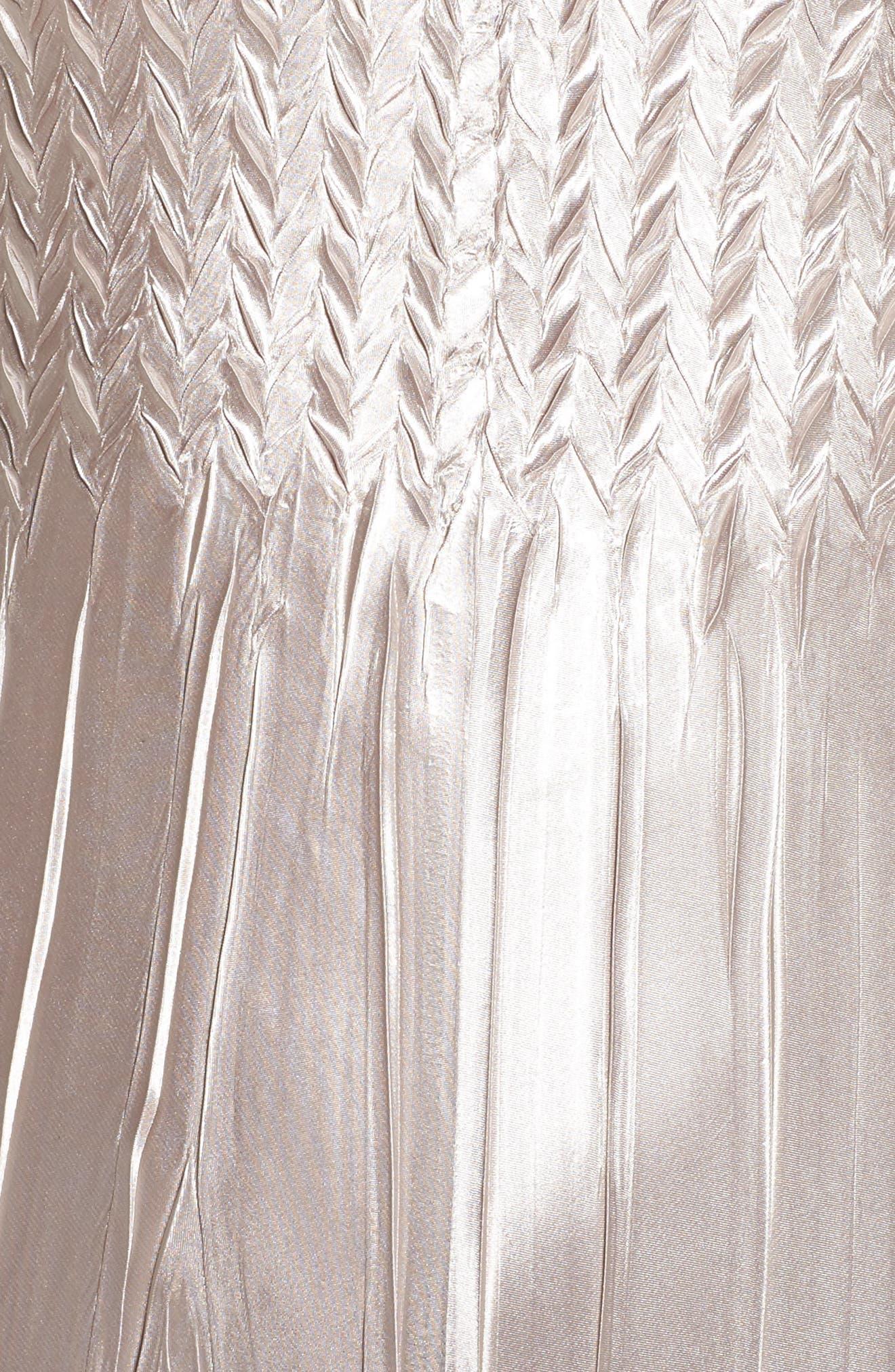 Alternate Image 4  - Komarov Beaded Charmeuse & Chiffon Midi Dress with Jacket  (Regular & Petite)