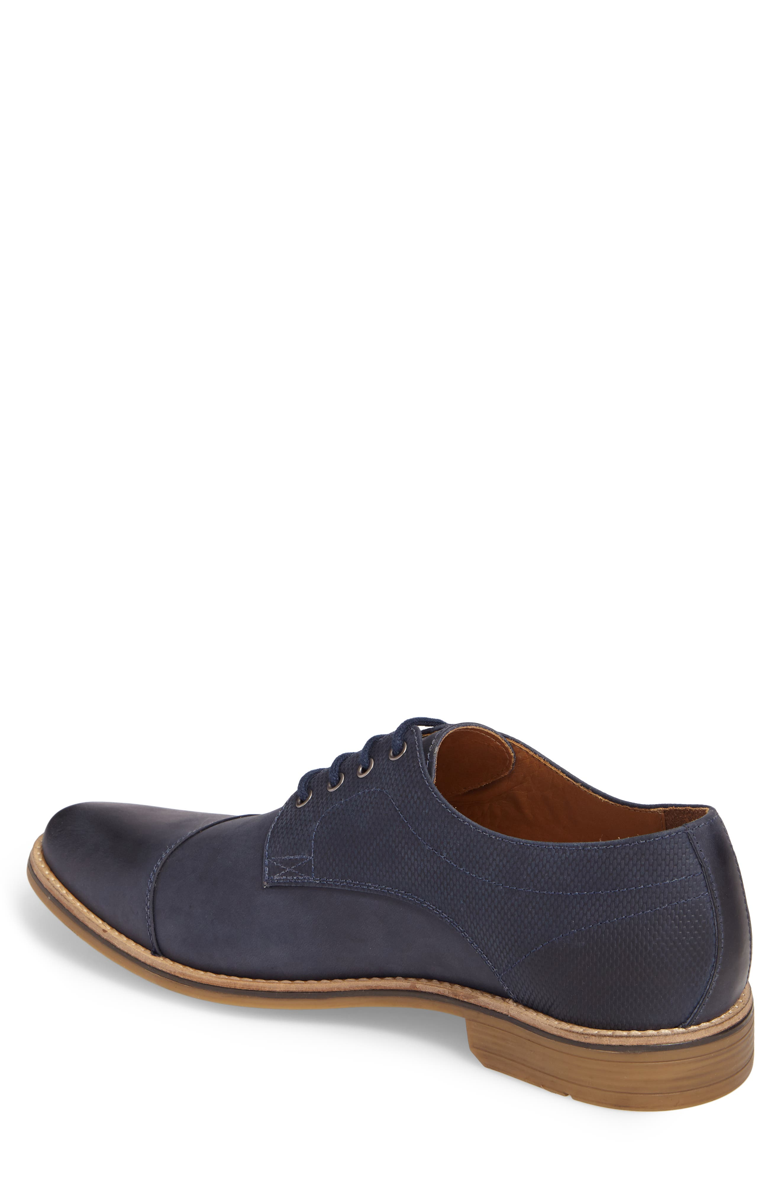 Goleta Cap Toe Derby,                             Alternate thumbnail 2, color,                             Navy Leather