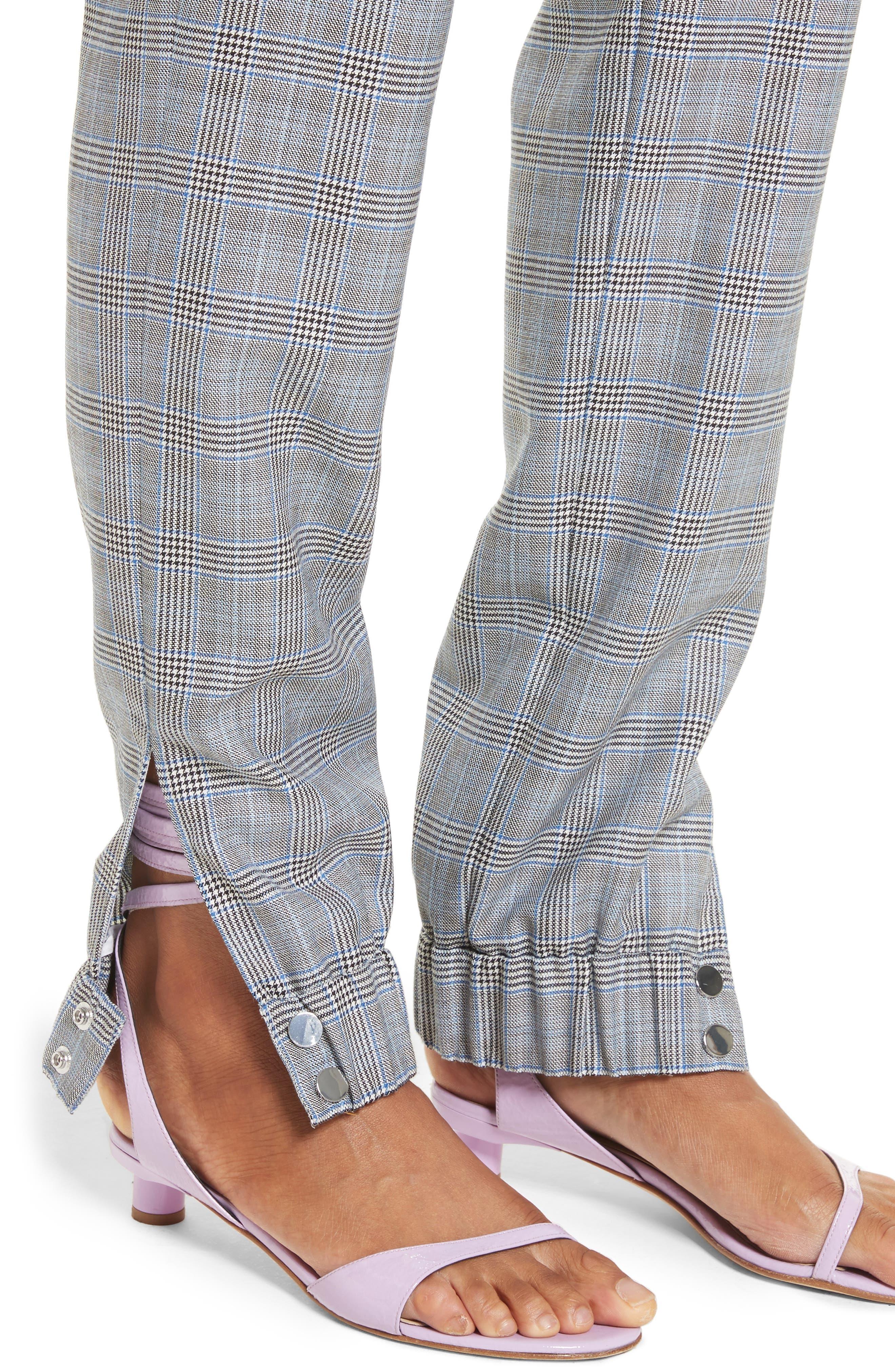 Alternate Image 5  - Tibi Plaid Jogger Pants