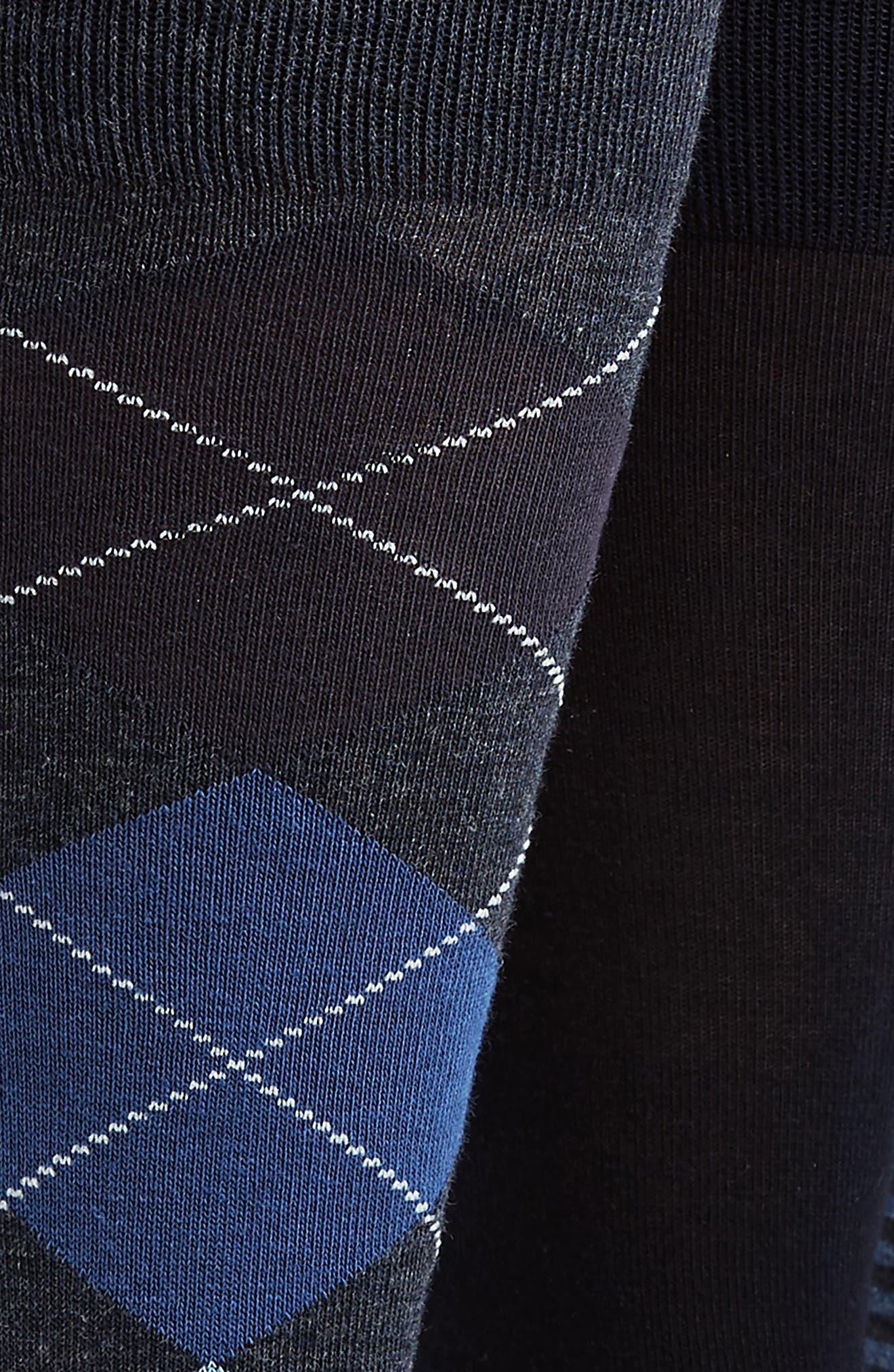 3-Pack Cotton Blend Socks,                             Alternate thumbnail 2, color,                             Navy