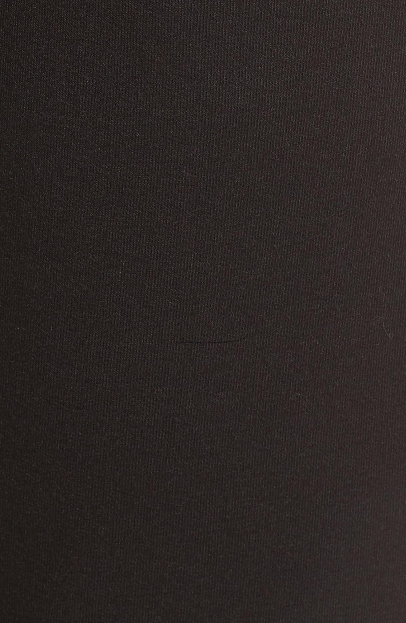 Zip Sweatpants,                             Alternate thumbnail 6, color,                             Black