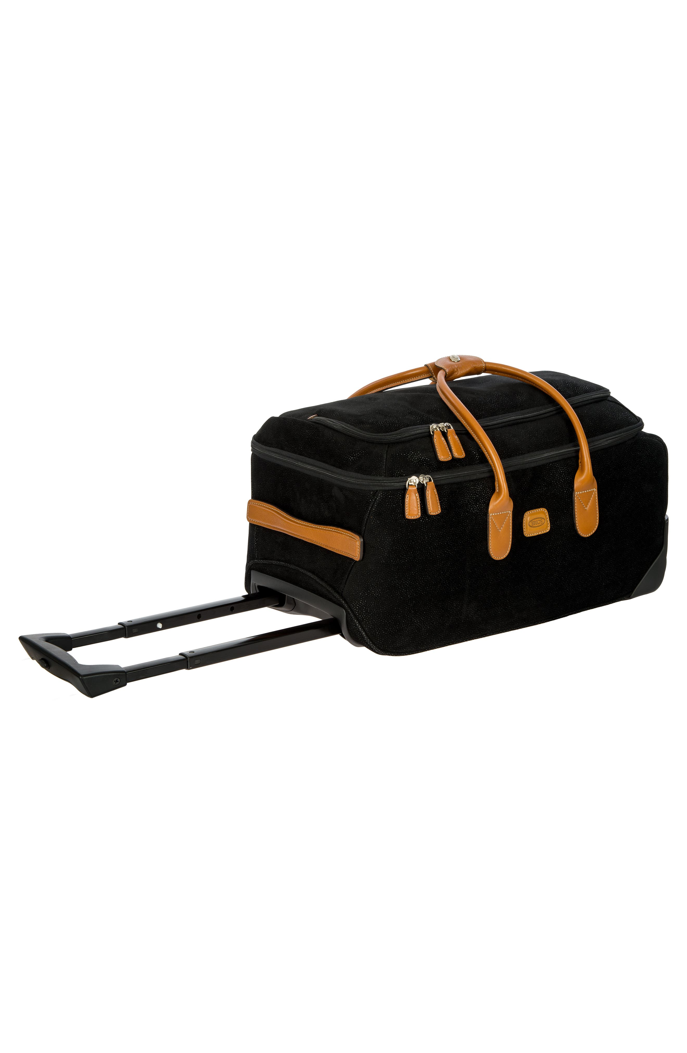 Life Collection 21-Inch Rolling Duffel Bag,                             Alternate thumbnail 4, color,                             Black