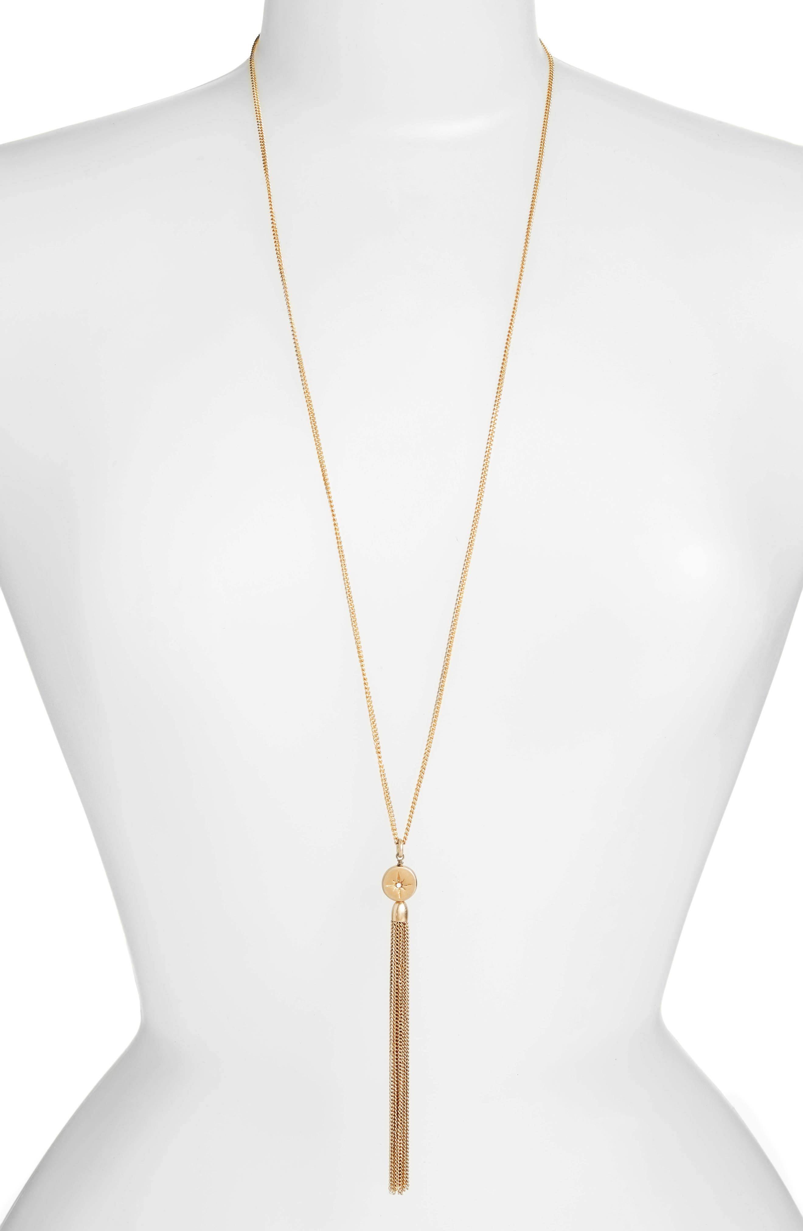 Treasure & Bond Star Disc Tassel Pendant Necklace