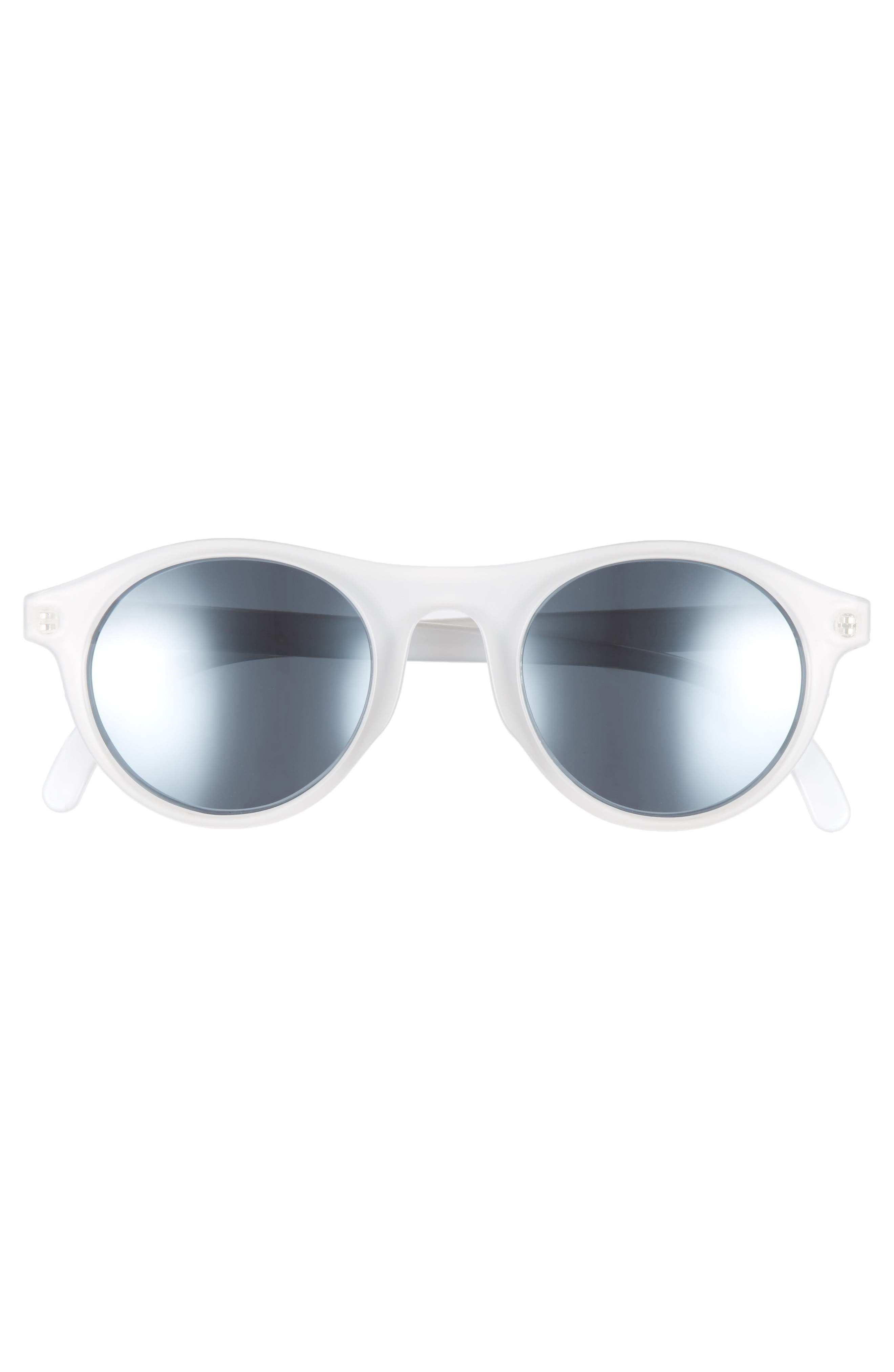 Alta 47mm Sunglasses,                             Alternate thumbnail 2, color,                             Snow Silver