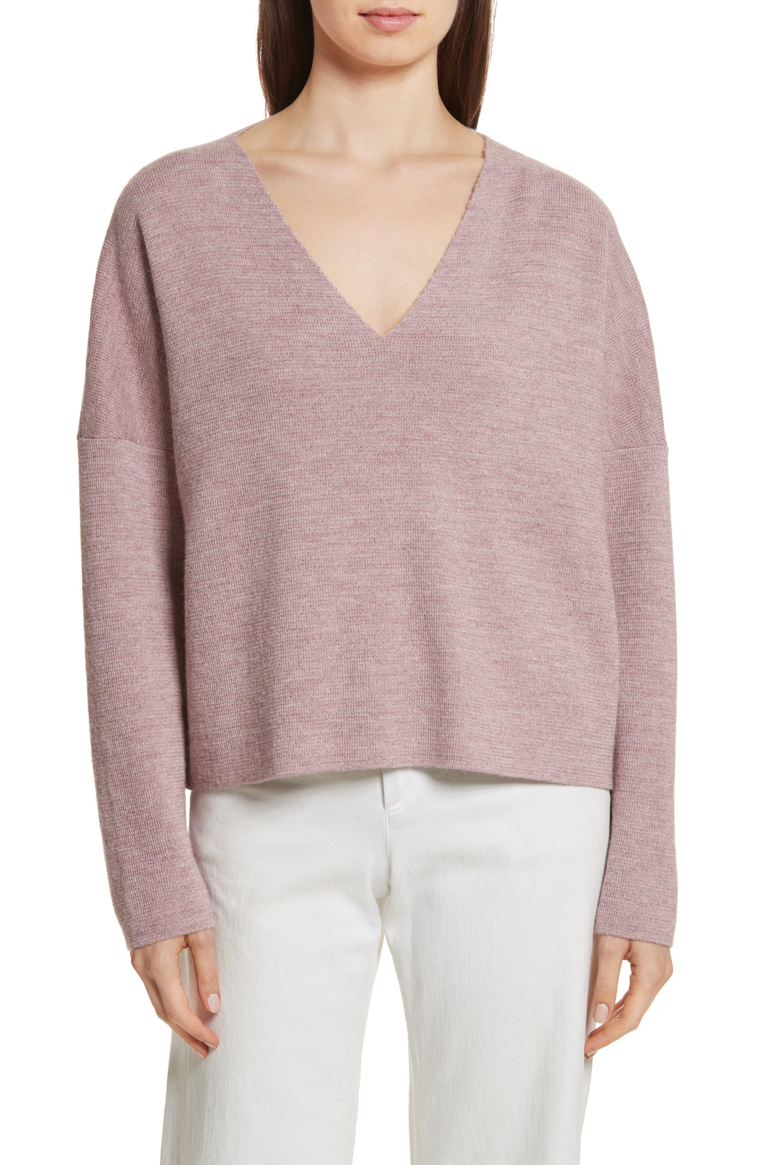 Fount Alpaca Hair Sweater,                             Main thumbnail 1, color,                             Lilac