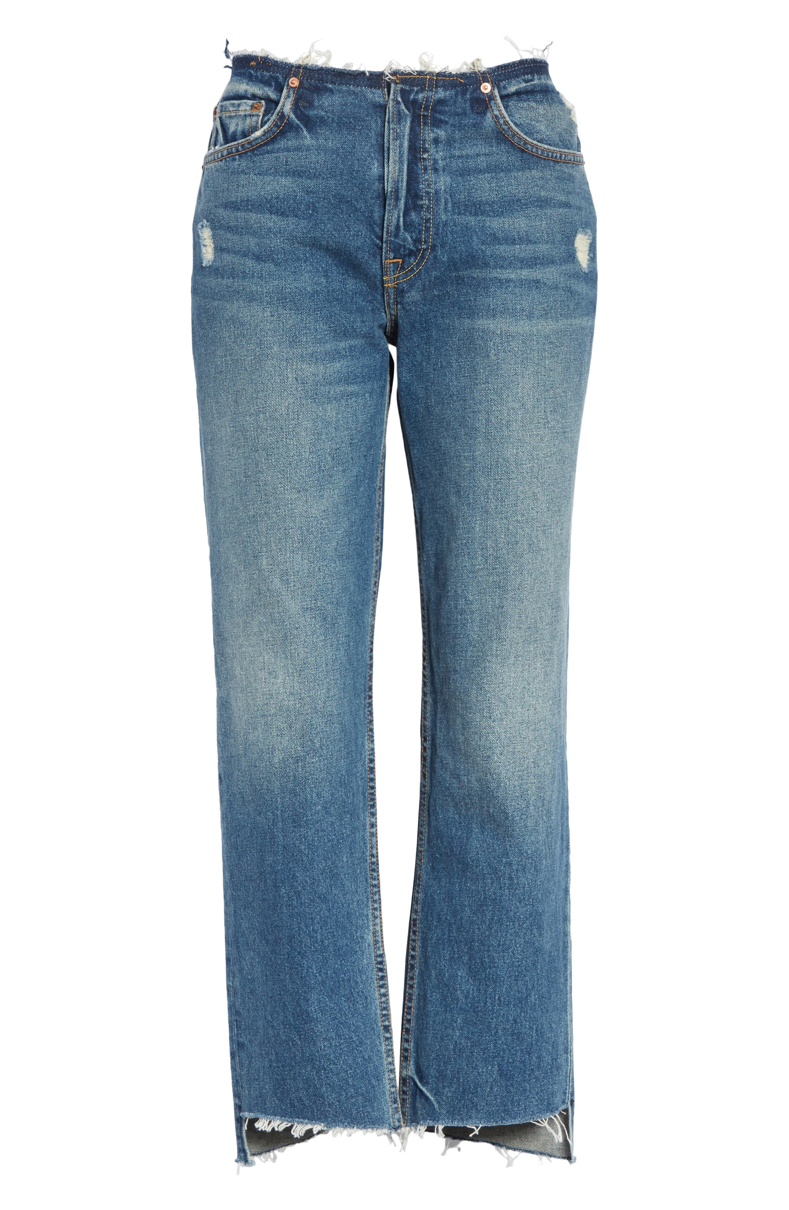 Shannan Step Hem Crop Jeans,                             Alternate thumbnail 6, color,                             Show Down G611