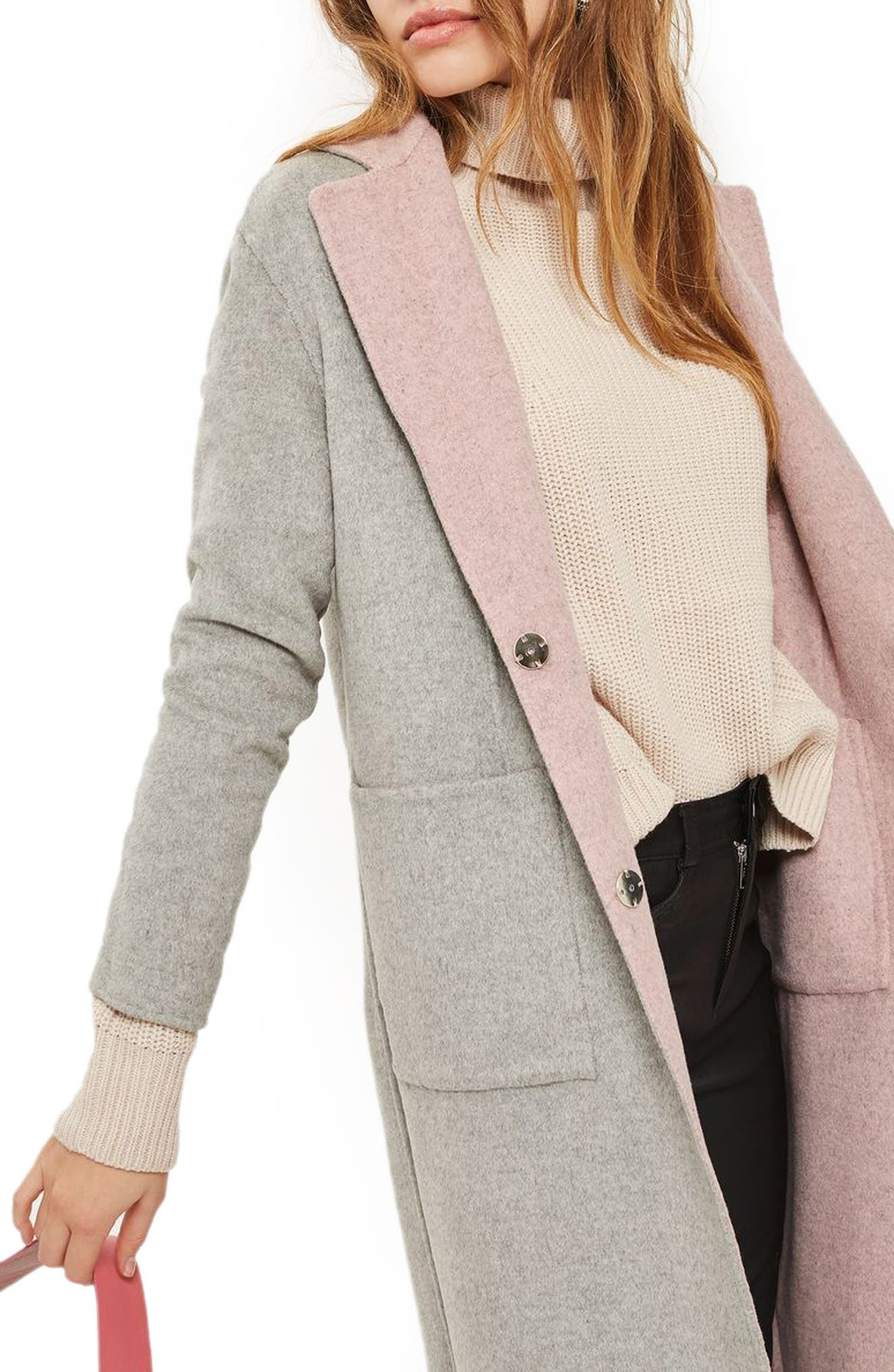 Alternate Image 1 Selected - Topshop Double Face Coat