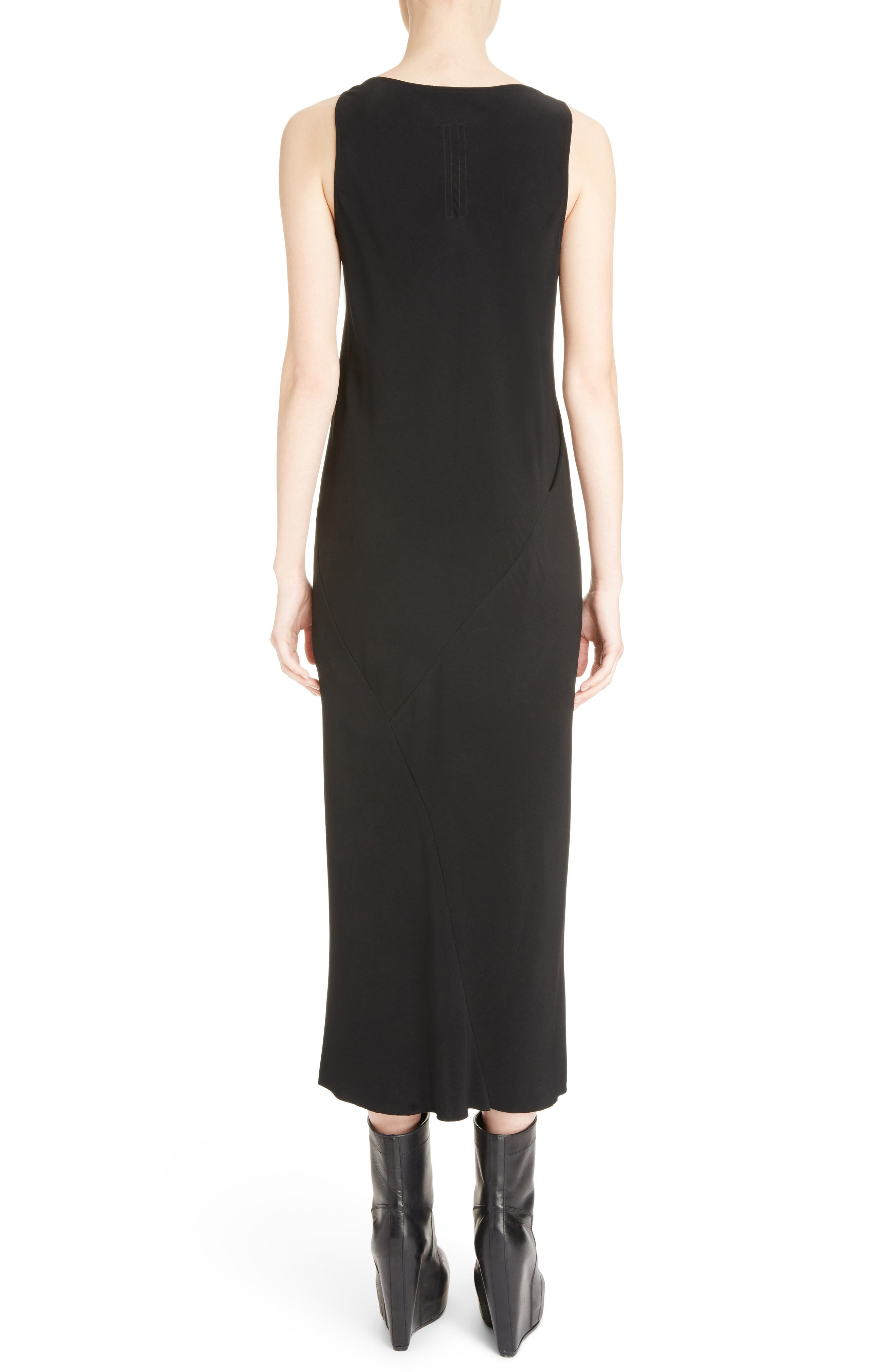 Cady Midi Dress,                             Alternate thumbnail 2, color,                             Black