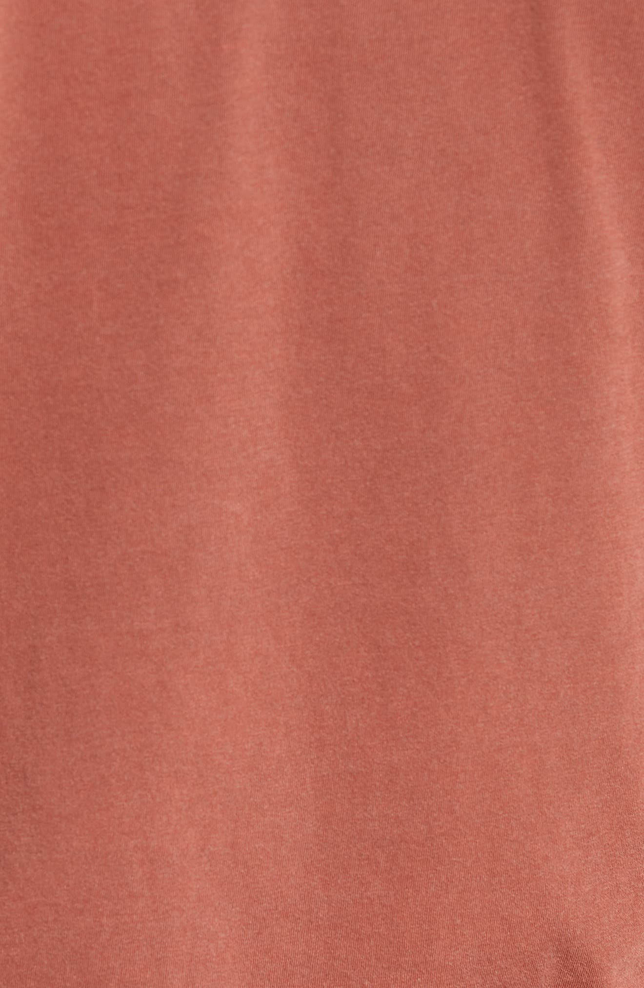 Crewneck Jersey T-Shirt,                             Alternate thumbnail 5, color,                             Red Clay