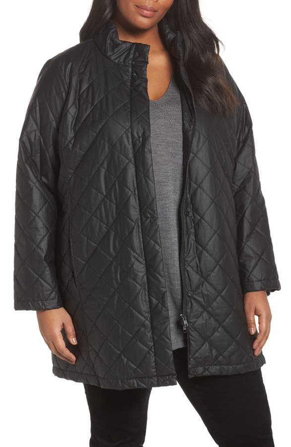 Eileen Fisher Quilted Jacket (Plus Size)   Nordstrom : quilted jacket plus size - Adamdwight.com