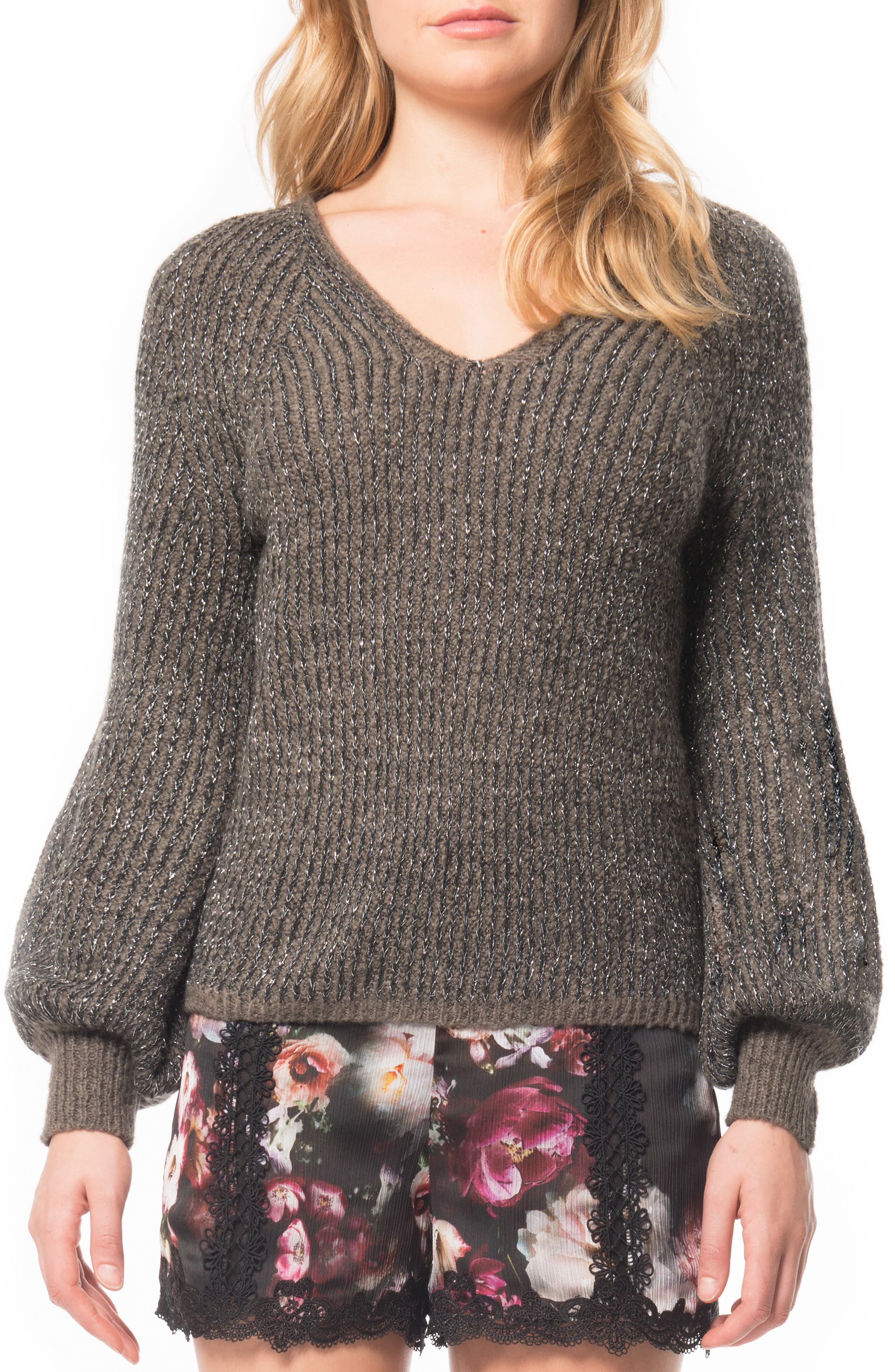 Alternate Image 1 Selected - Willow & Clay Puffed Sleeve Sweater