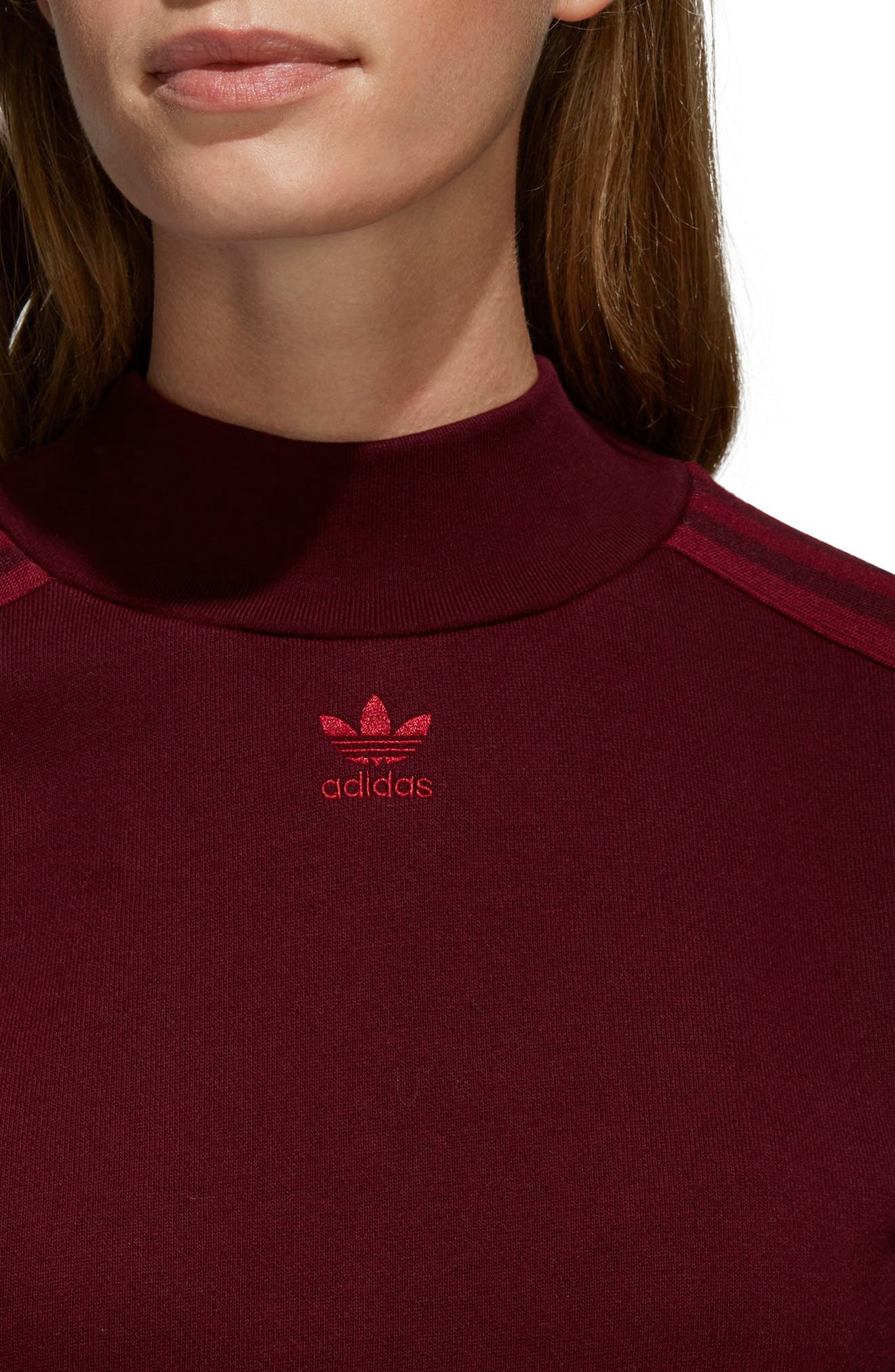 Originals Adibreak Sweatshirt,                             Alternate thumbnail 4, color,                             Maroon