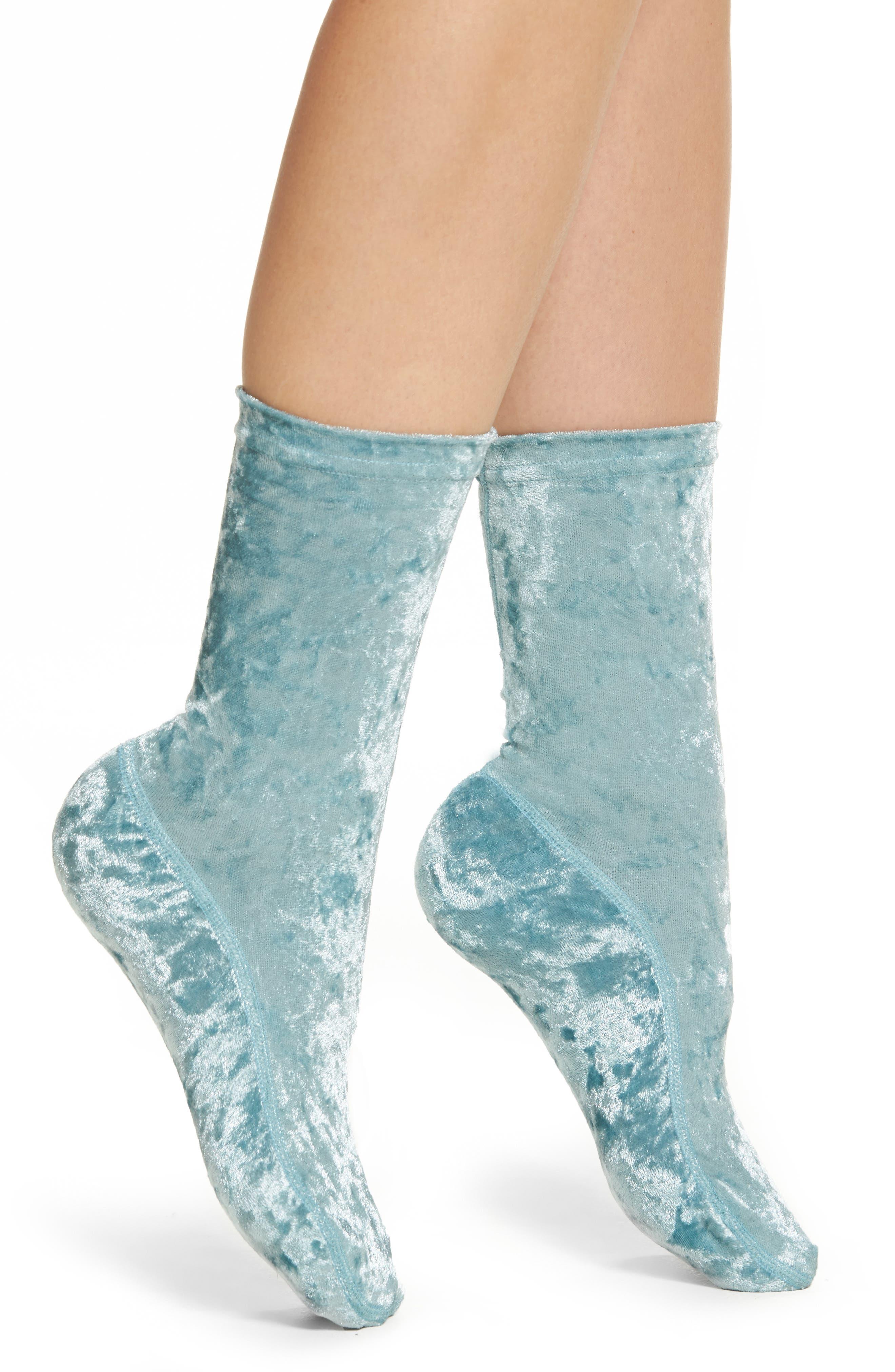 Alternate Image 1 Selected - Nordstrom Crushed Velvet Socks