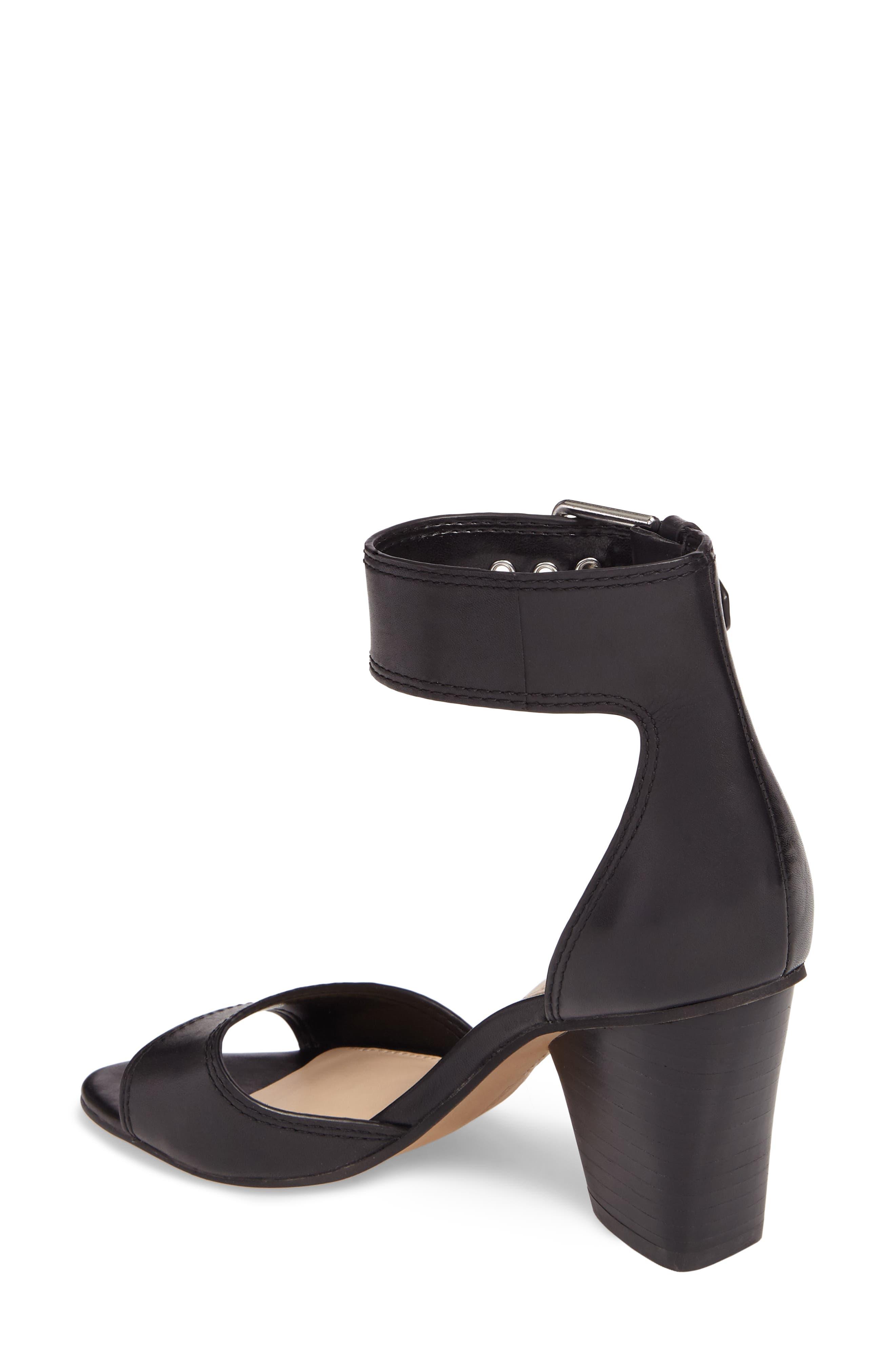 Driton Ankle Strap Sandal,                             Alternate thumbnail 2, color,                             Black Leather