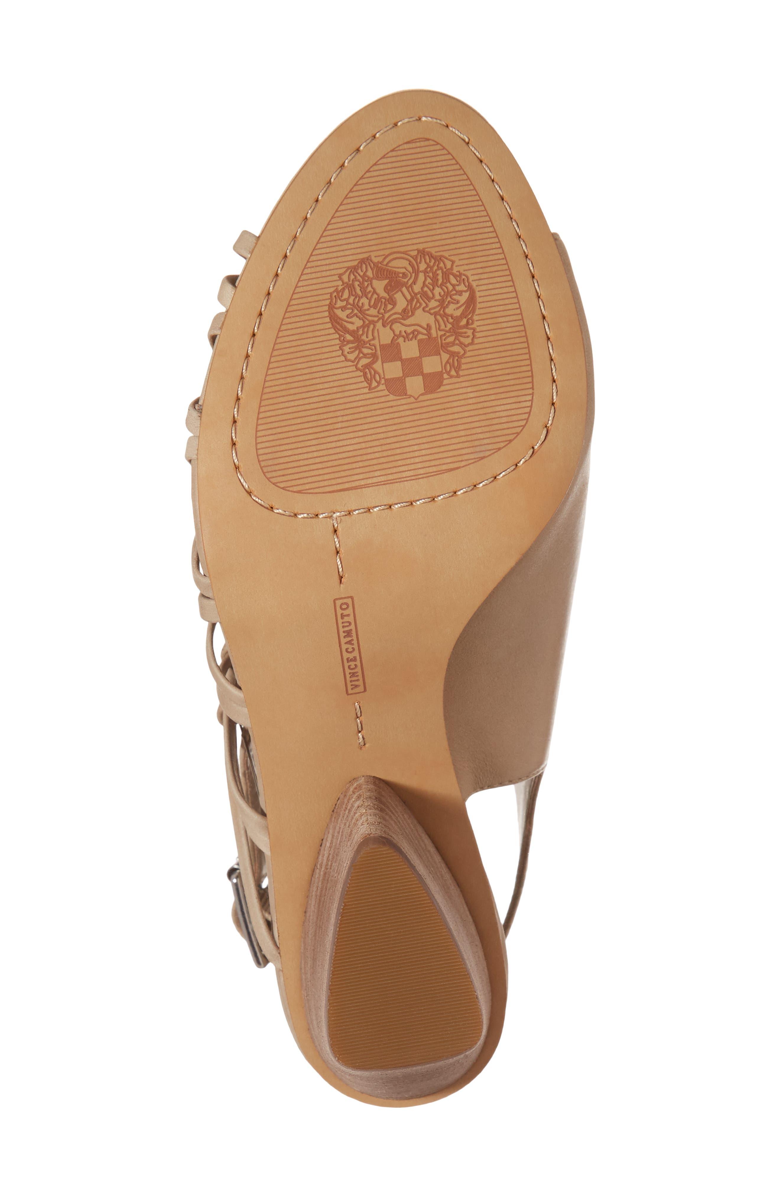 Ankara Sandal,                             Alternate thumbnail 6, color,                             Urban Beige Leather