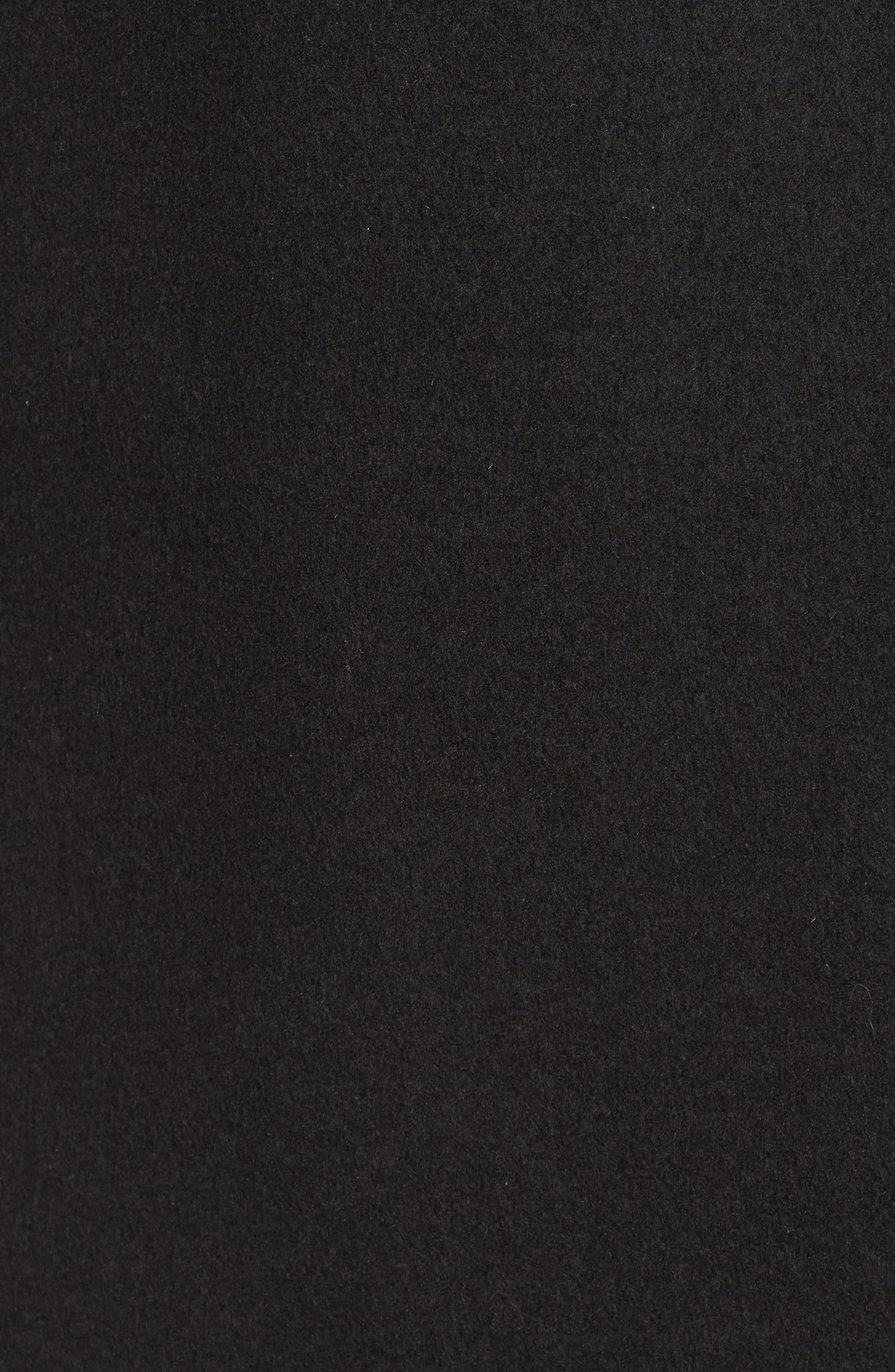 DKNY Lavish Wool Blend Coat,                             Alternate thumbnail 5, color,                             Black