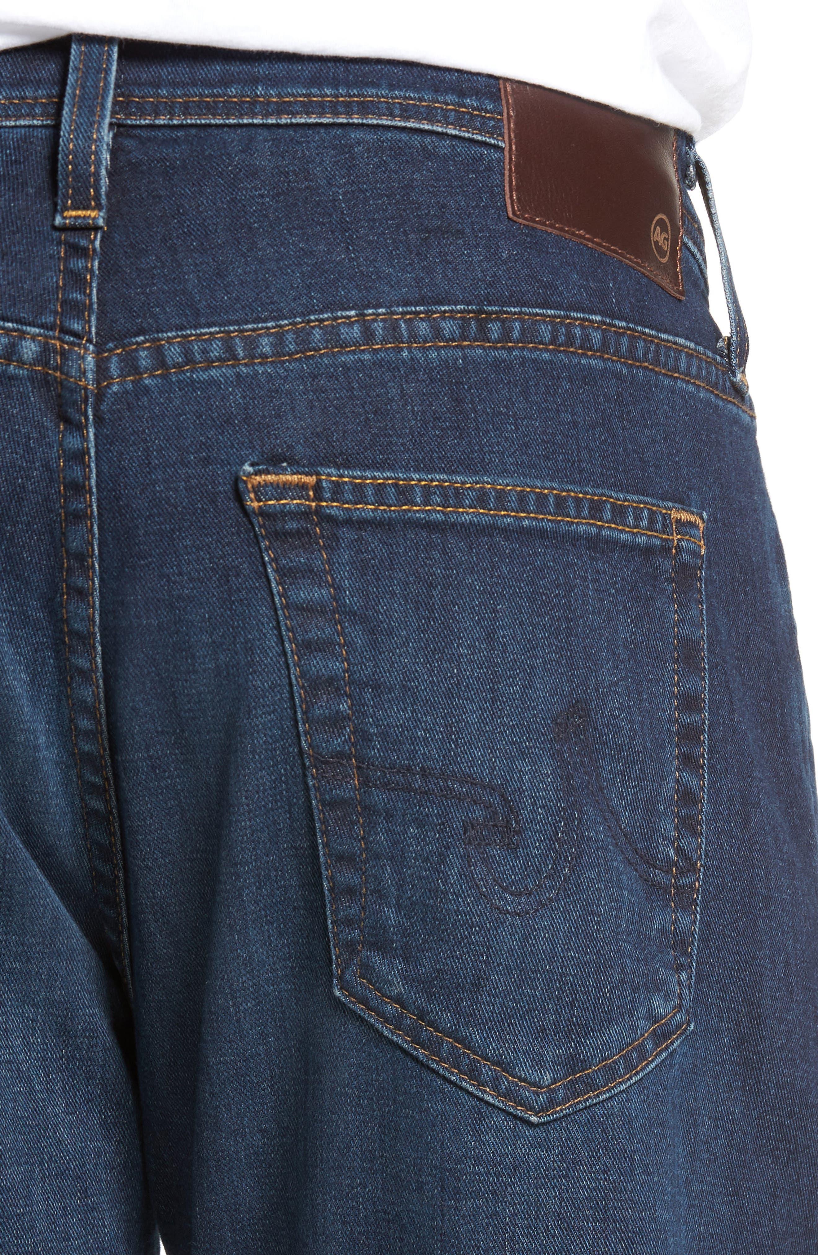 Alternate Image 4  - AG Everett Slim Straight Fit Jeans (Witness)
