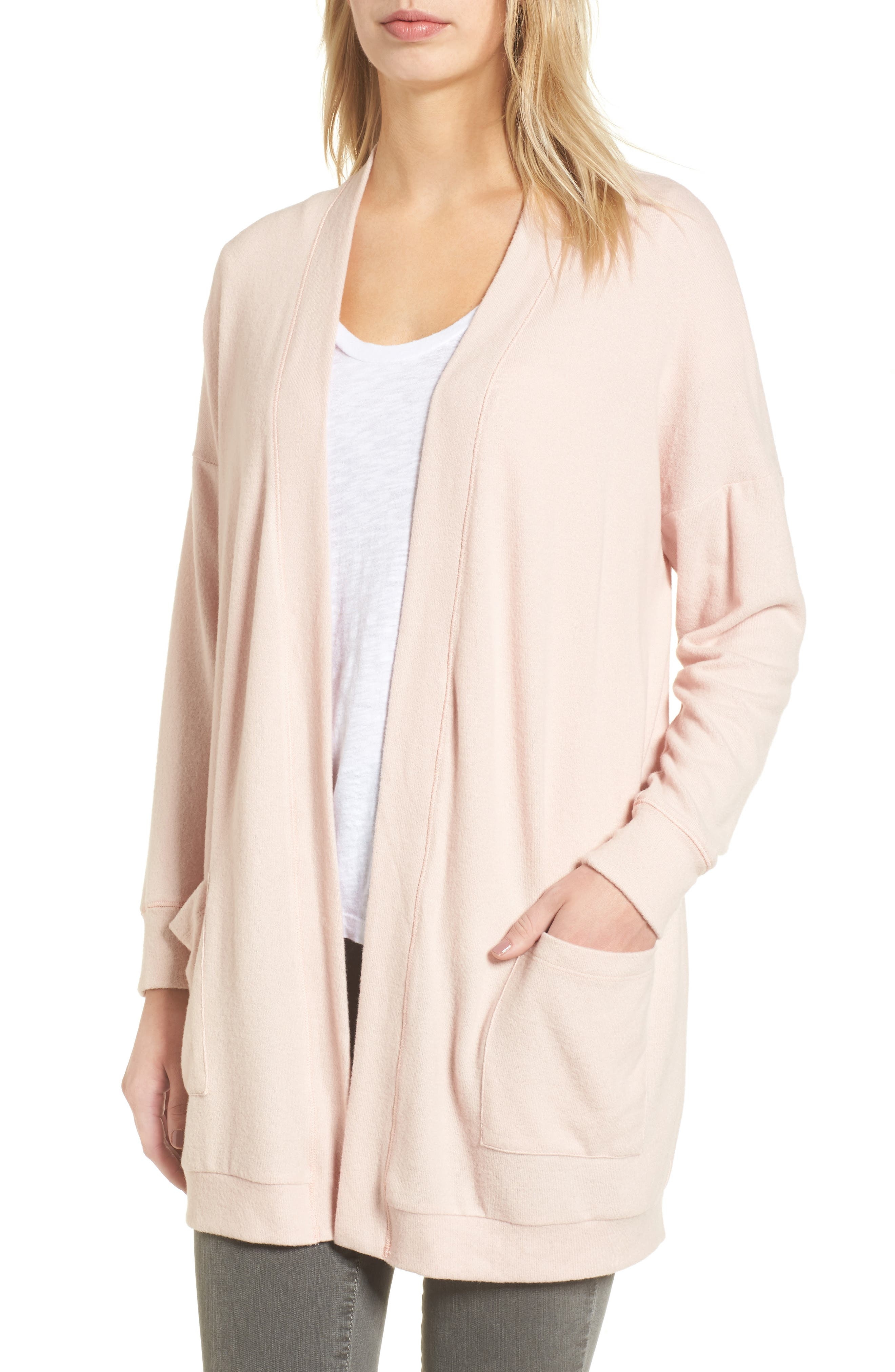 Gibson Cozy Fleece Cardigan (Regular & Petite) | Nordstrom