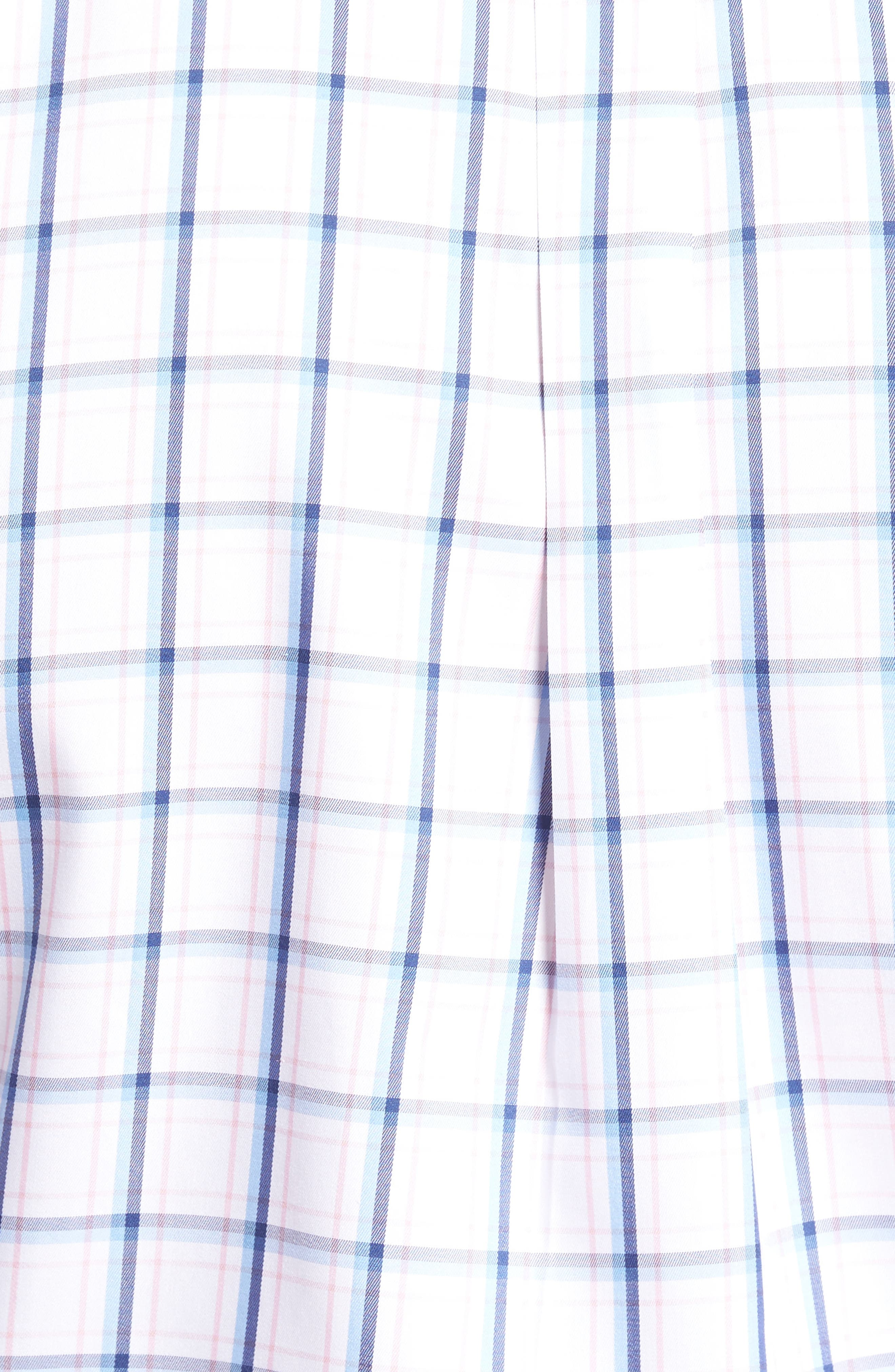 Crown Windowpane Sport Shirt,                             Alternate thumbnail 5, color,                             Tahoe Blue