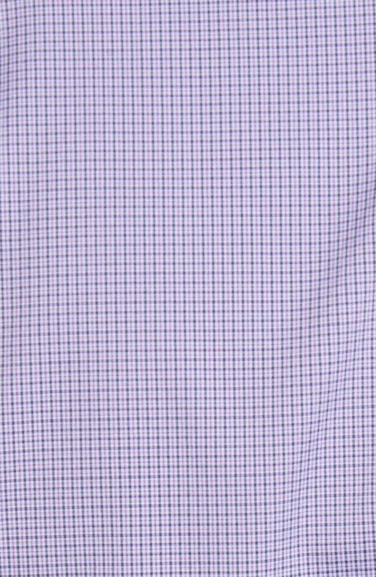 Parsons Check Performance Sport Shirt,                             Alternate thumbnail 5, color,                             Muscadine