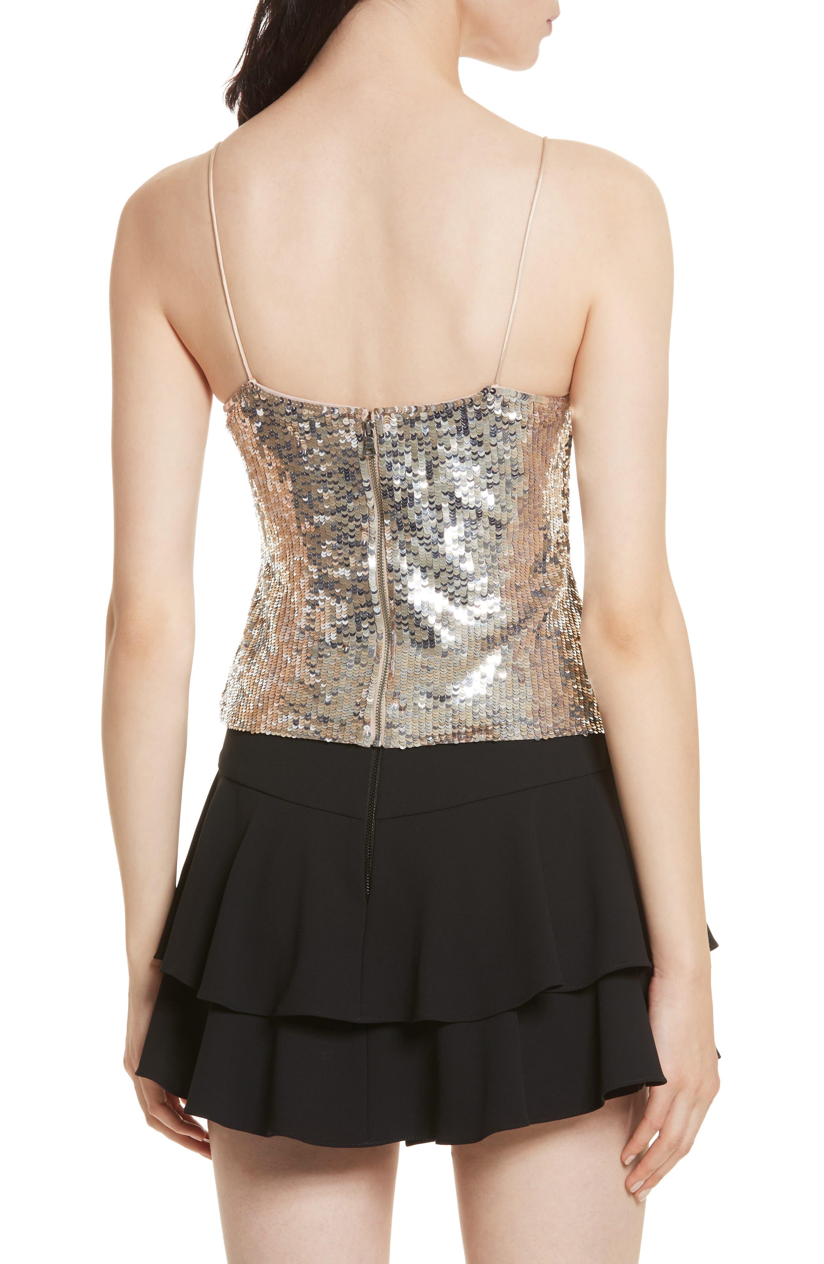 Alternate Image 2  - Alice + Olivia Delray Sequin Embellished Camisole